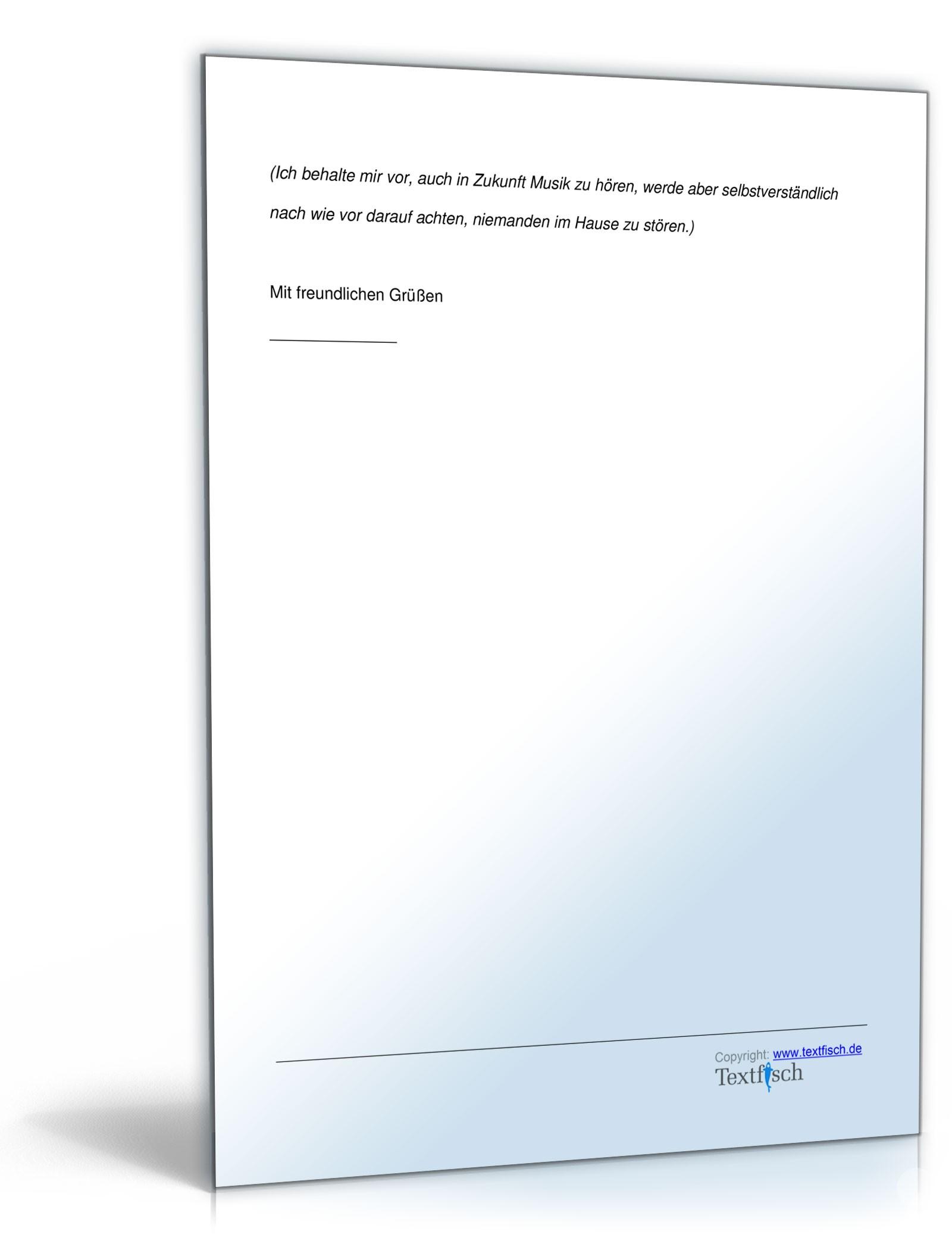 Musterbriefe Lärmbelästigung : Zurückweisung beschwerde lärmbelästigung muster zum download