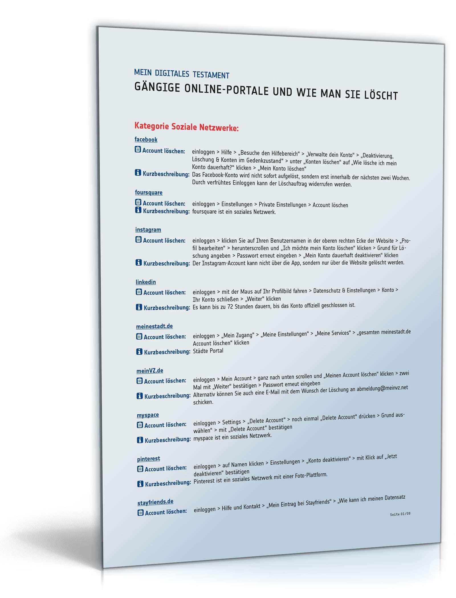 Infoliste über Den Verbleib Digitaler Konten Liste Zum Download