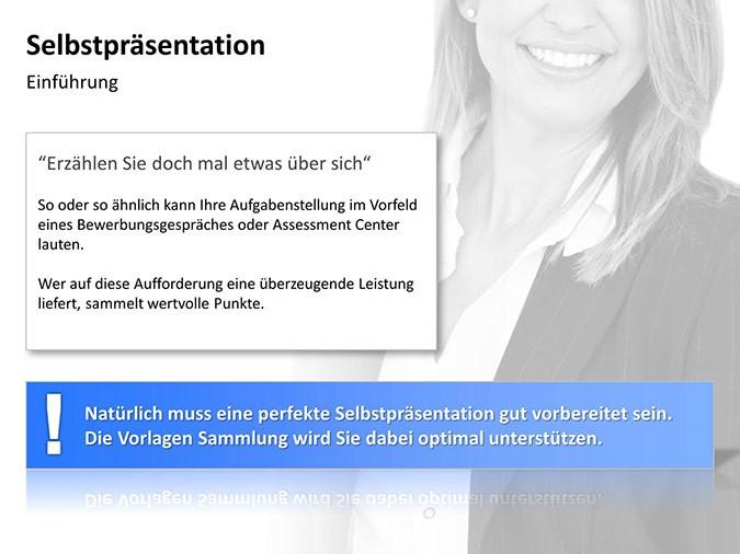 selbstprsentation frau folie 2 - Selbstprasentation Powerpoint Muster
