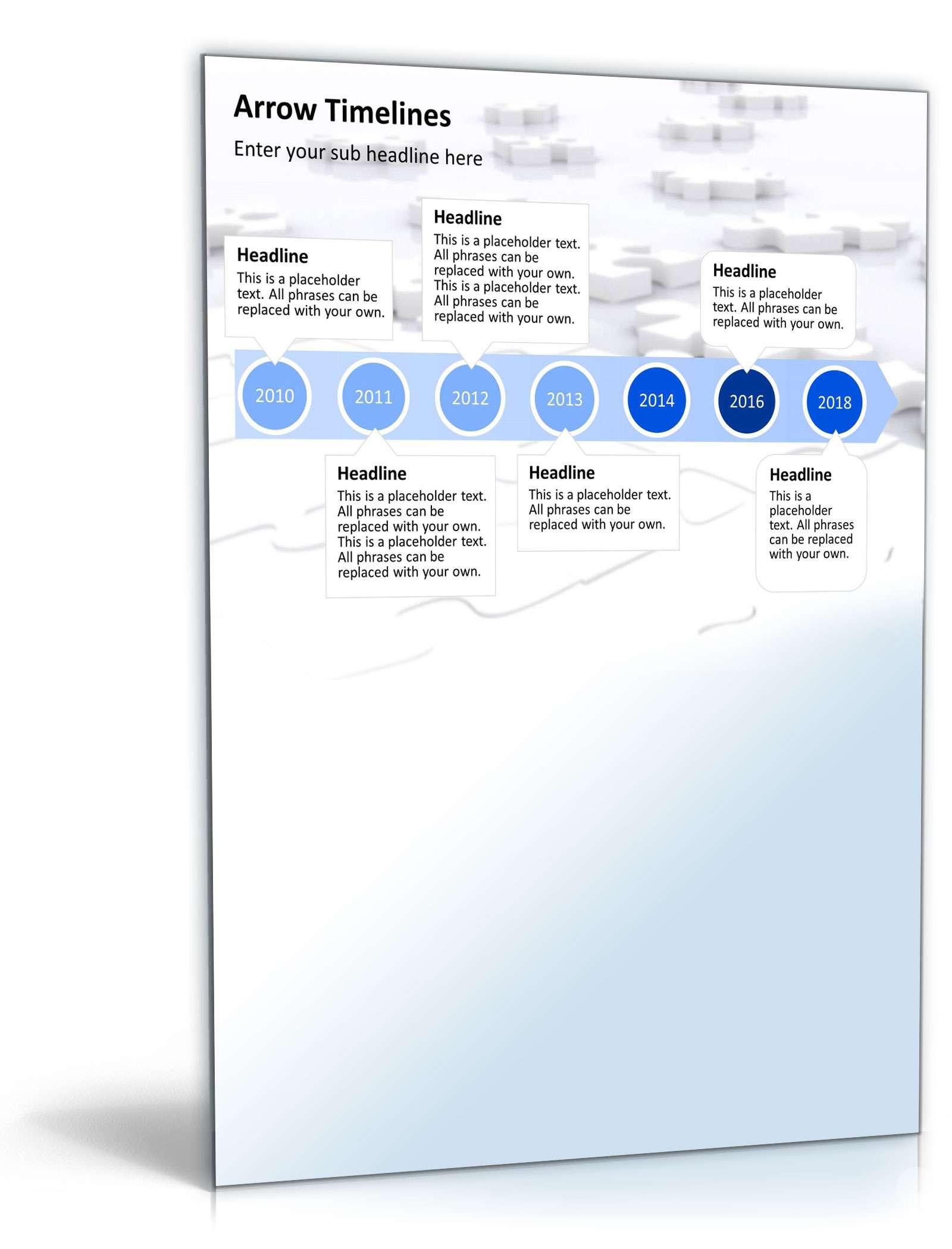 PowerPoint Präsentation Zeitstrahl - Vorlage zum Download
