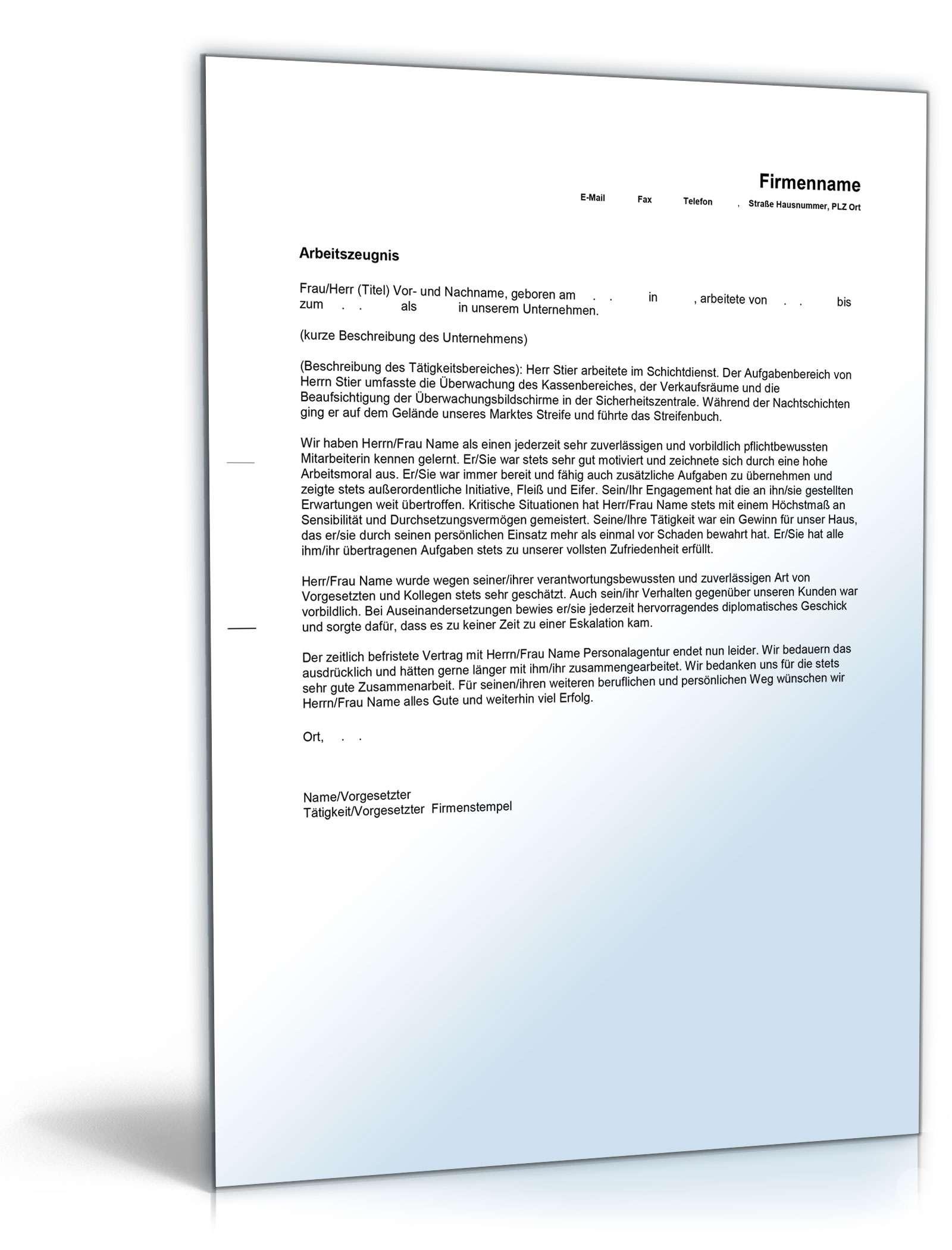 Berühmt Lebenslauf Liste Für Den Wachmann Fotos - Entry Level Resume ...