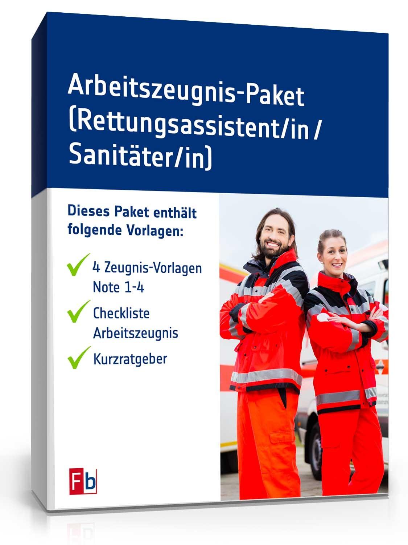 Arbeitszeugnis-Paket Rettungsassistent Note Eins bis Vier | {Rettungssanitäter zeugnis 50}