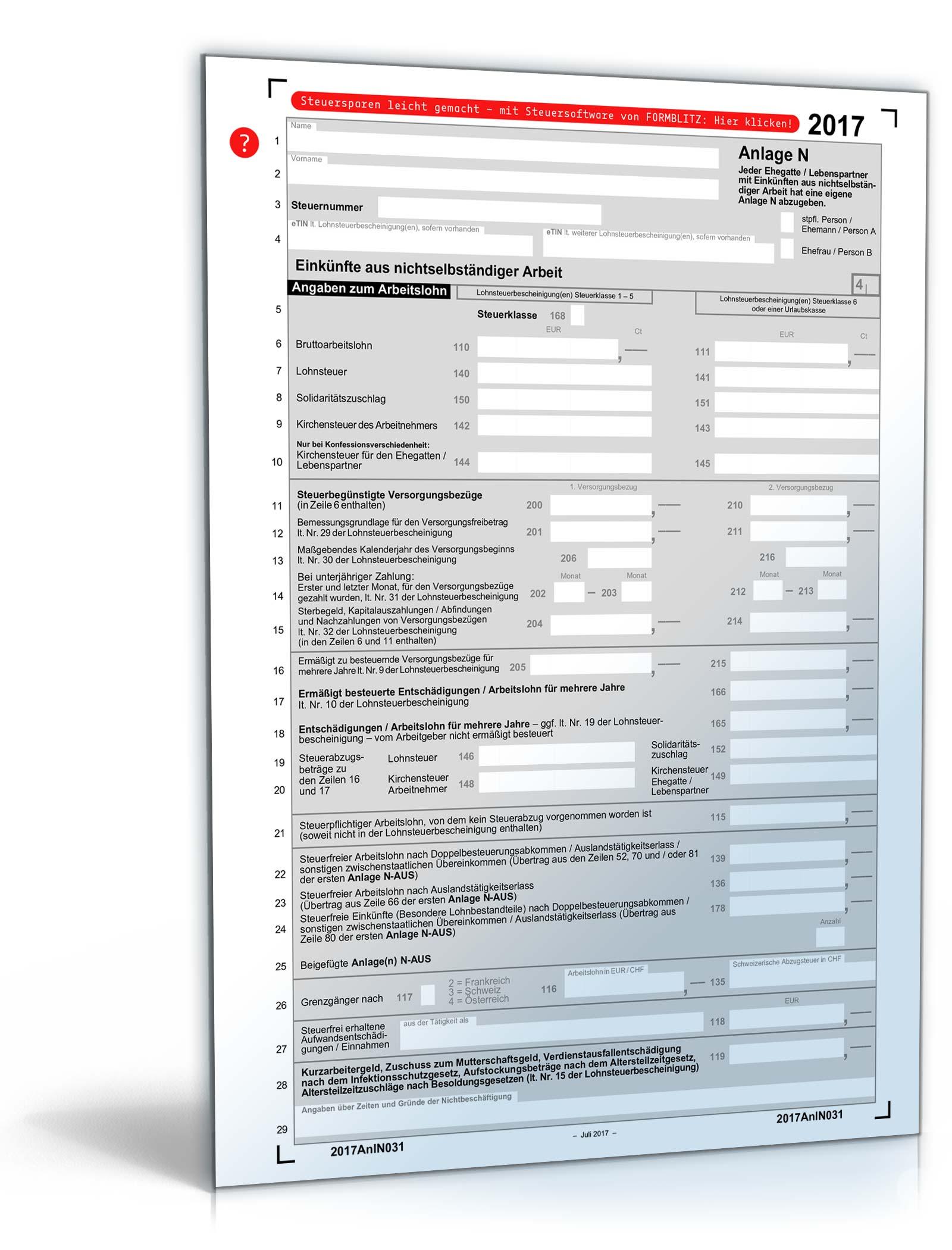 Steuerformulare 2018 Formulare Des Finanzamtes Zum Download