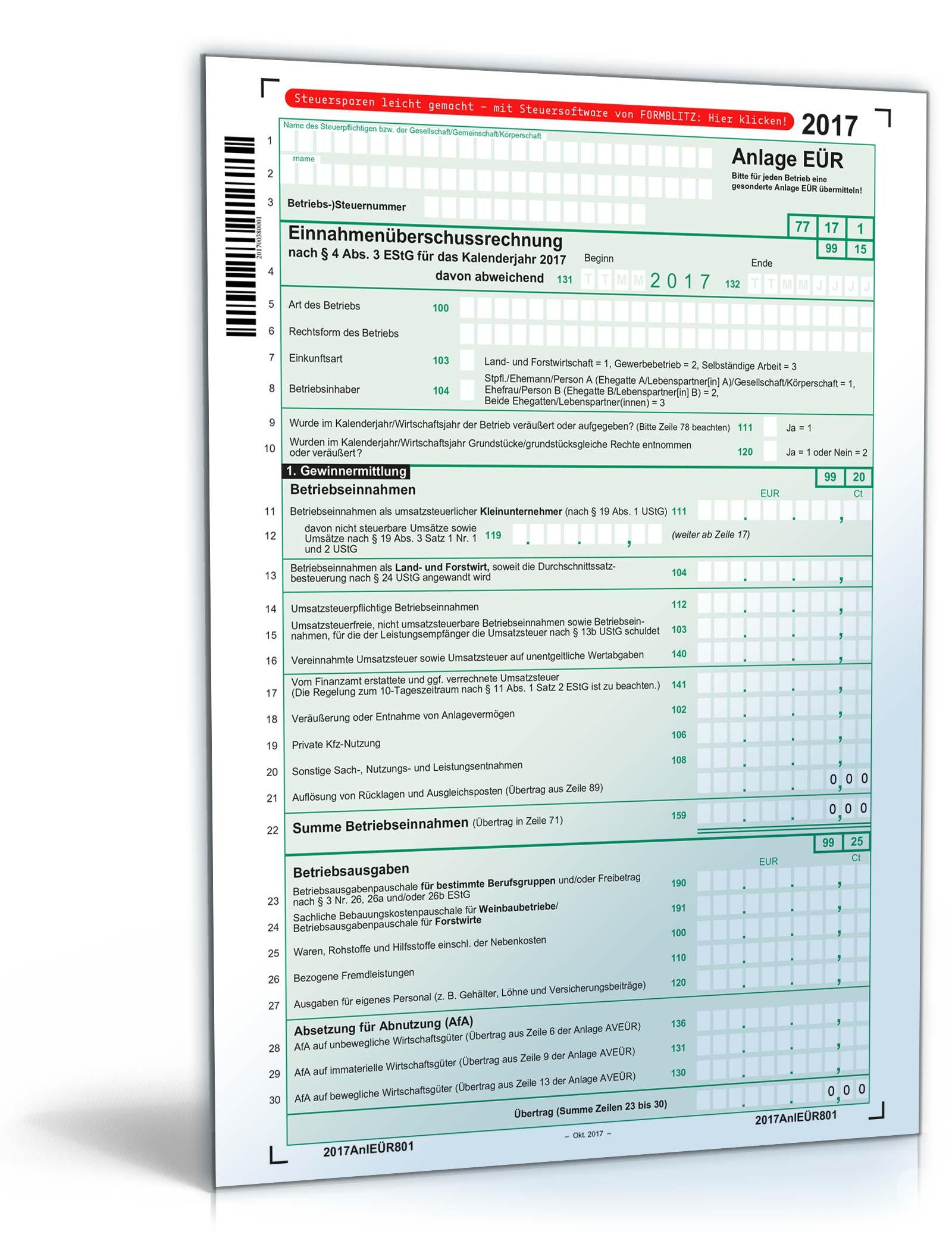 Steuerformulare 2017: Alle Formulare des Finanzamtes zum Download