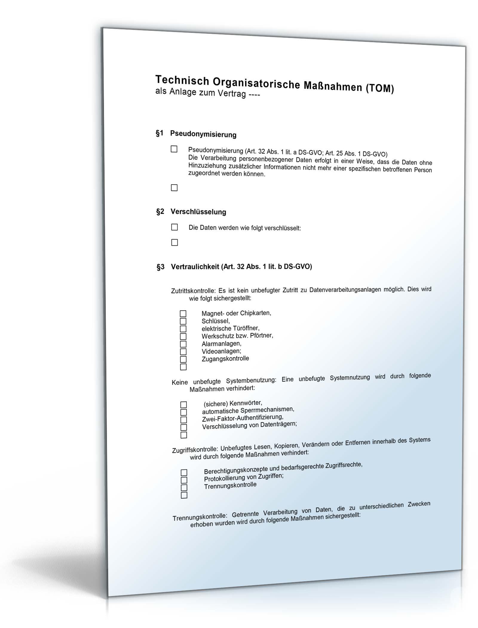 Auftragsverarbeitungsvertrag Muster Zum Download