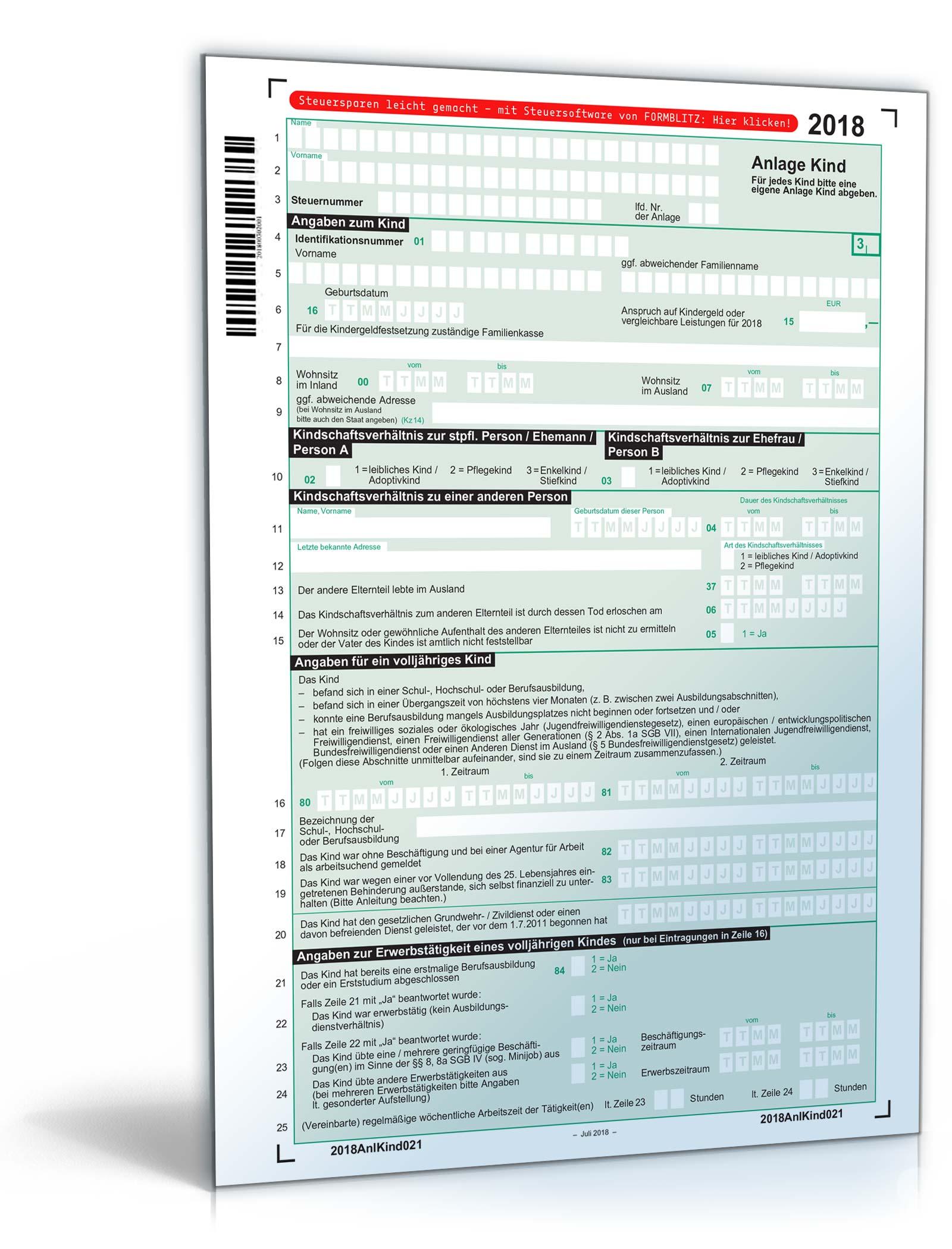 einkommensteuererklärung formulare 2018