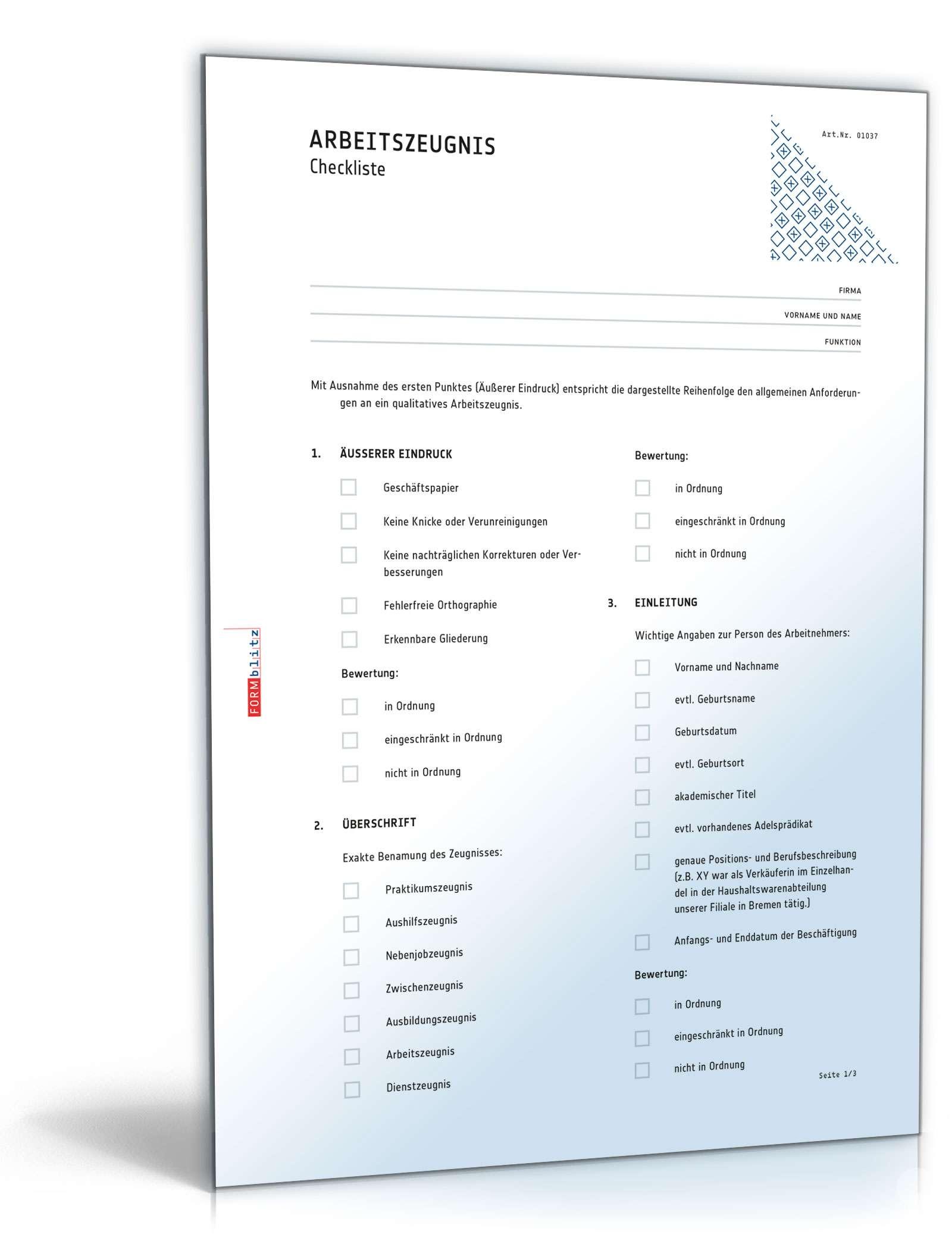 Arbeitszeugnis Eventmanager: Muster zum Download