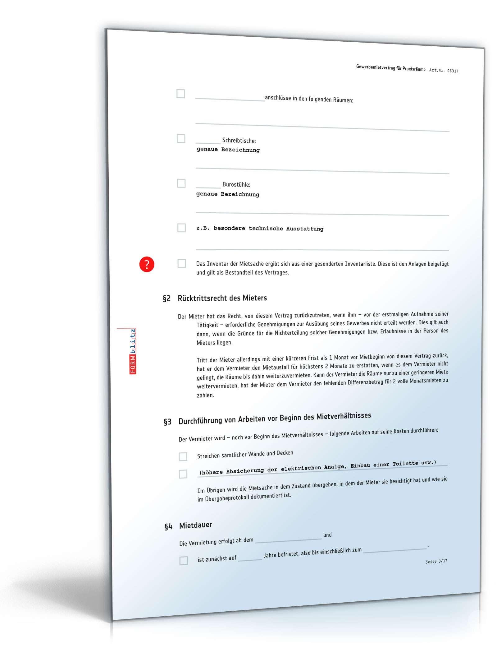 Mietvertrag Praxis Rechtssicheres Muster Zum Download