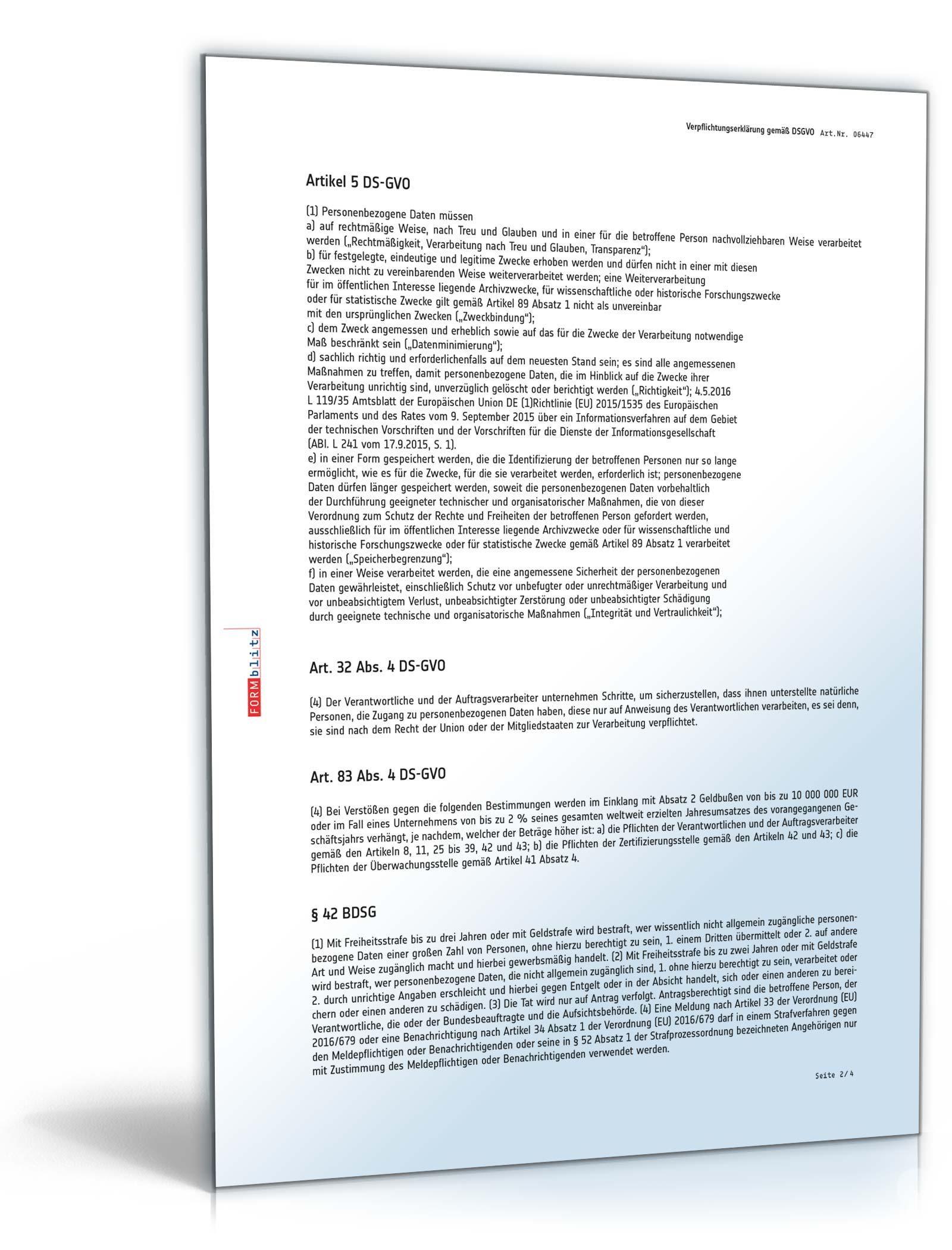 vorschaubild 02 - Verpflichtungserklarung Muster