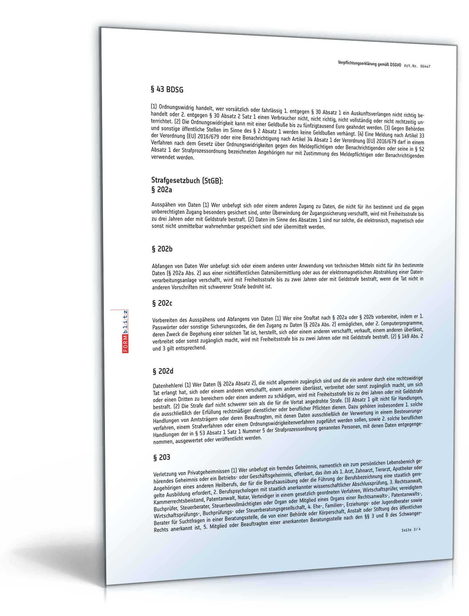 vorschaubild 03 - Verpflichtungserklarung Muster