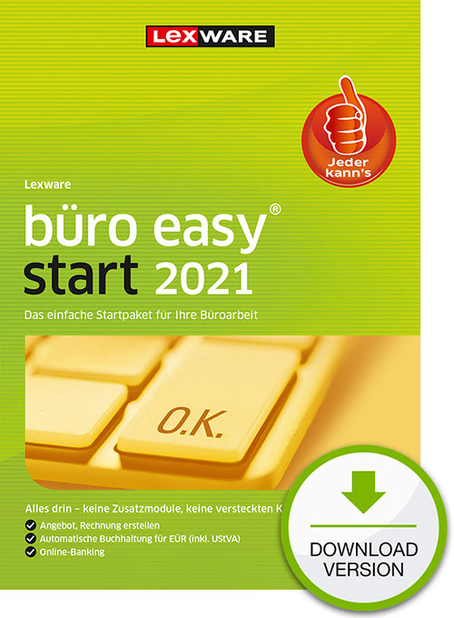 Lexware büro easy start 2021 - Abo Version Dokument zum Download