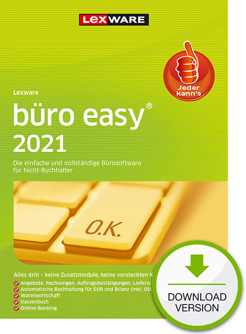 Lexware büro easy 2021 - Abo Version Dokument zum Download