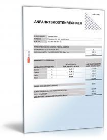Anfahrtskostenrechner für Handwerker Dokument zum Download