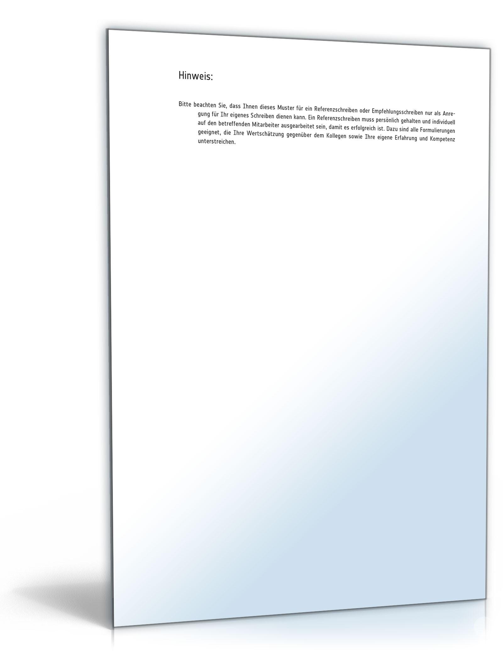 Referenzschreiben für freie Mitarbeiter: Muster zum Download