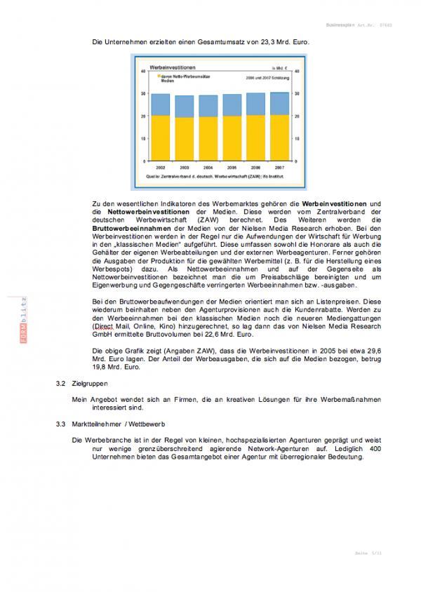 Businessplan Werbeagentur | Muster zum Download