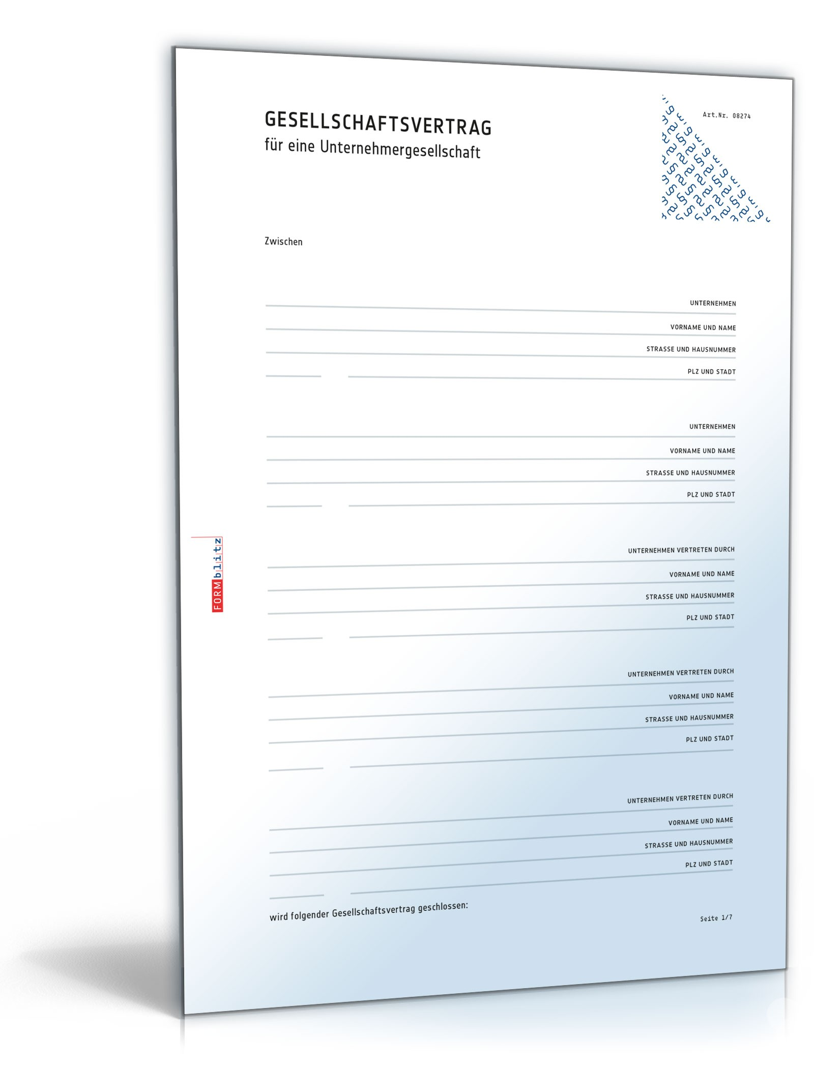Gesellschaftsvertrag Ug Rechtssicheres Muster Zum Download