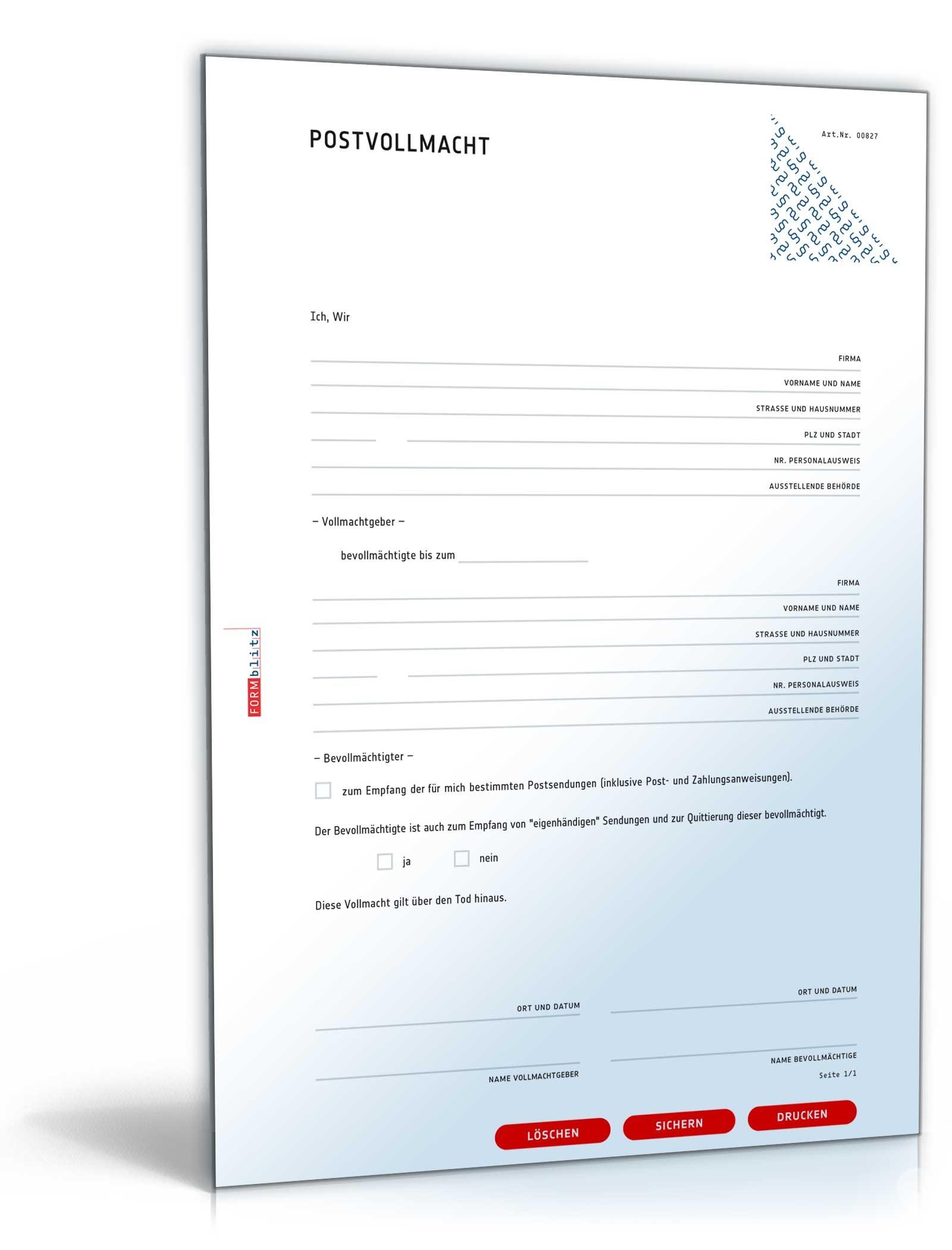 vollmacht paket 13 vollmachten als pdf word zum download. Black Bedroom Furniture Sets. Home Design Ideas