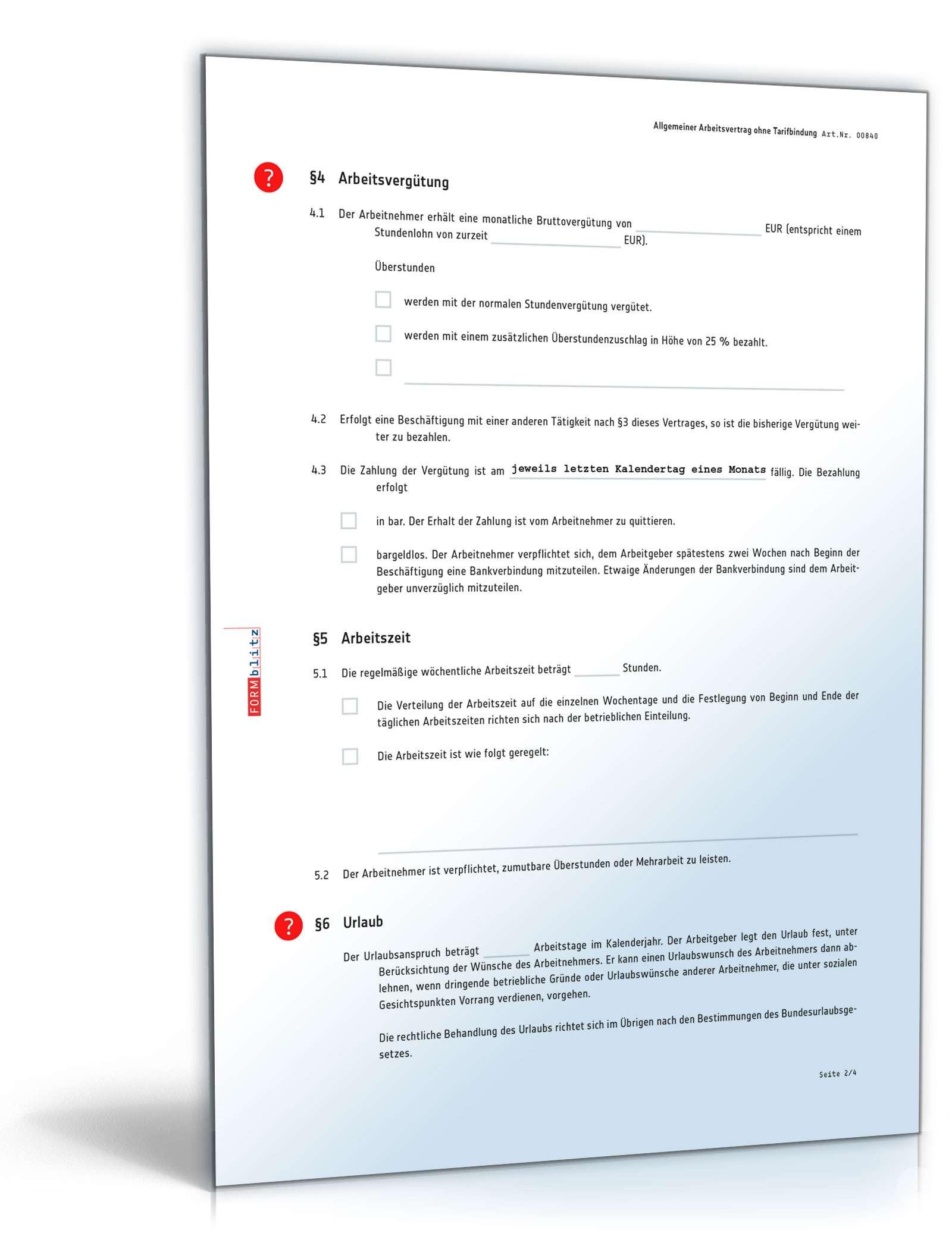 Arbeitsvertrag Muster Anwaltsgeprüfte Vorlage Zum Download
