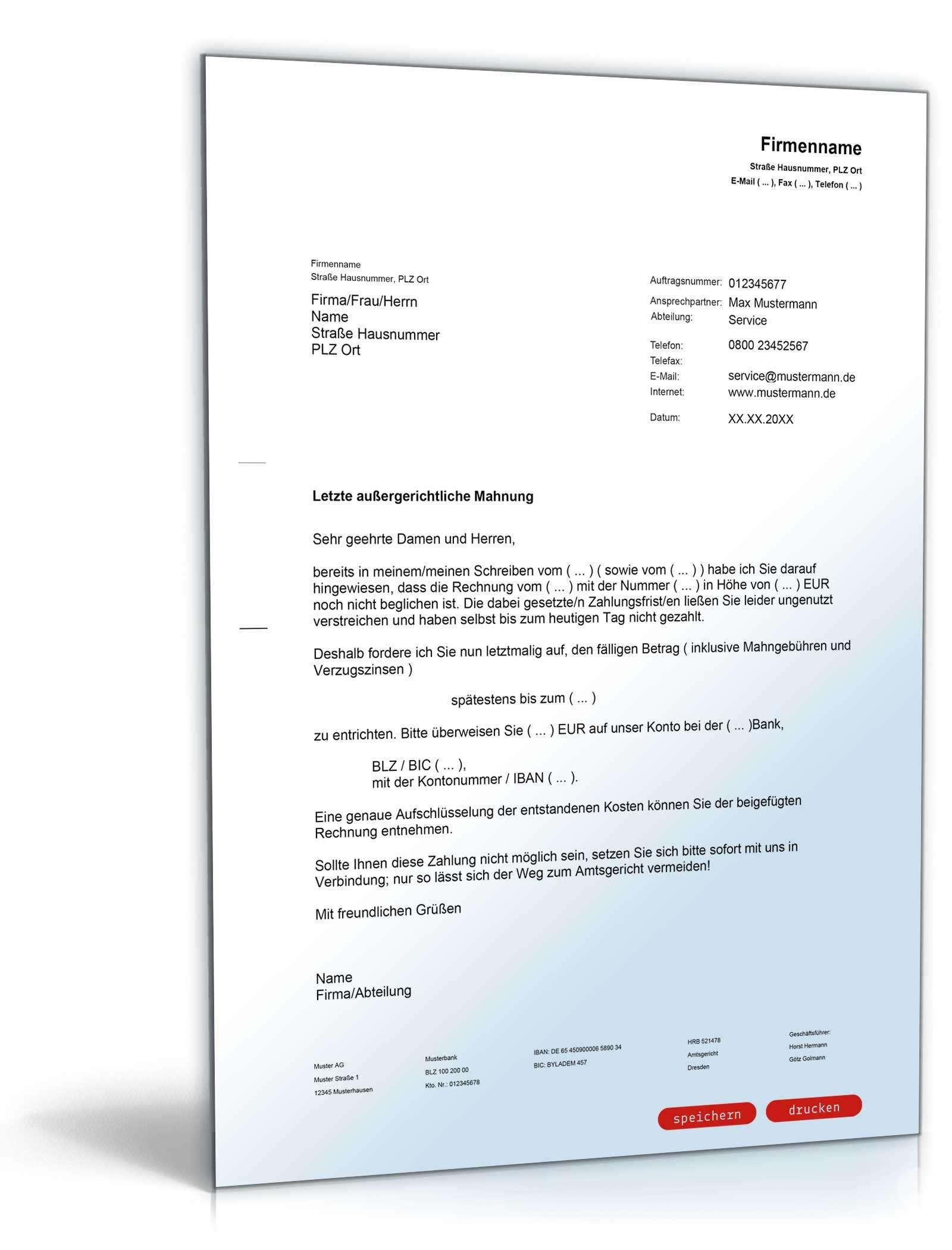 Vorlagen Paket Aufforderungen Mahnungen Vorlagen Zum Download