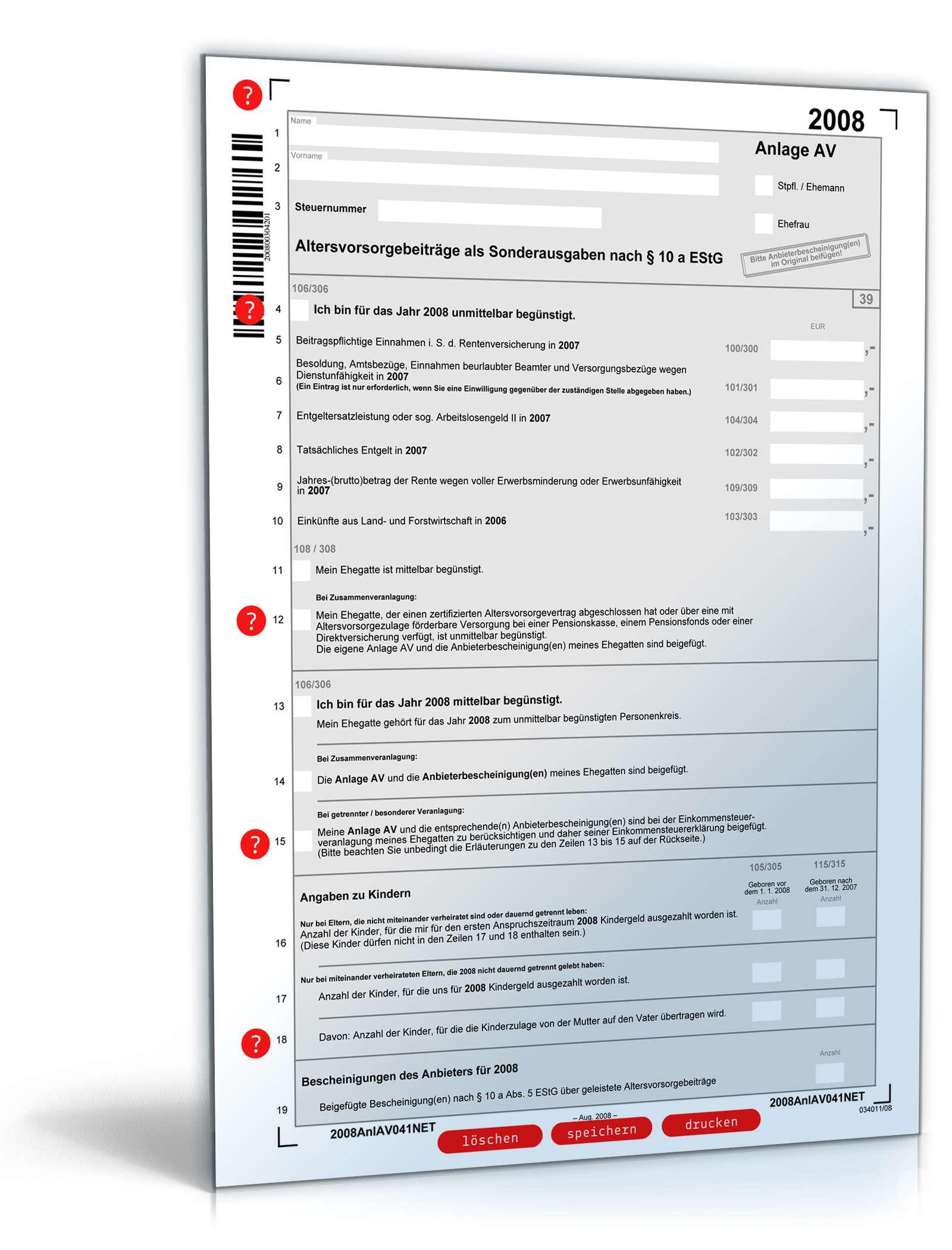 beliebte downloads steuerformulare kostenlos