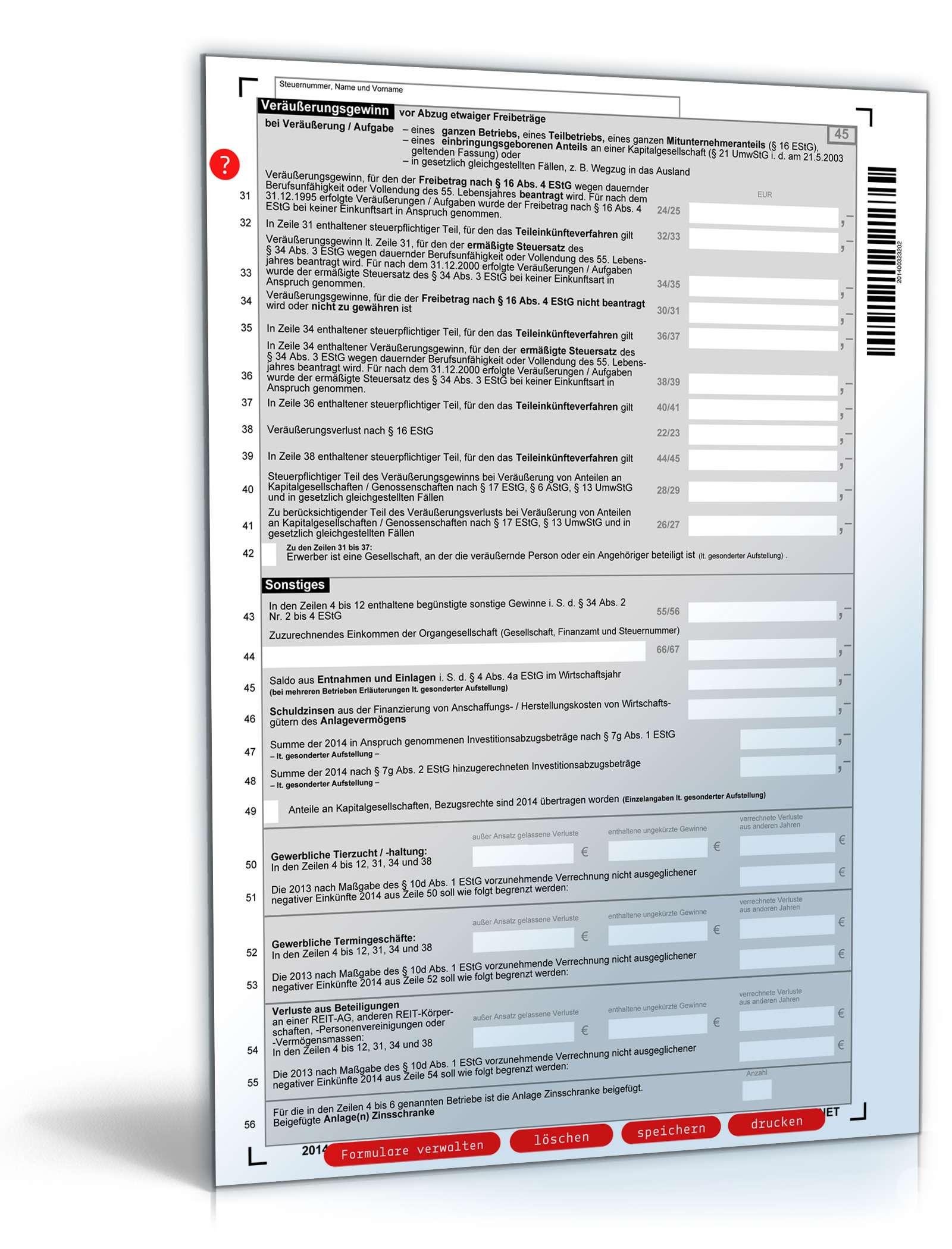 anlage g steuererklärung