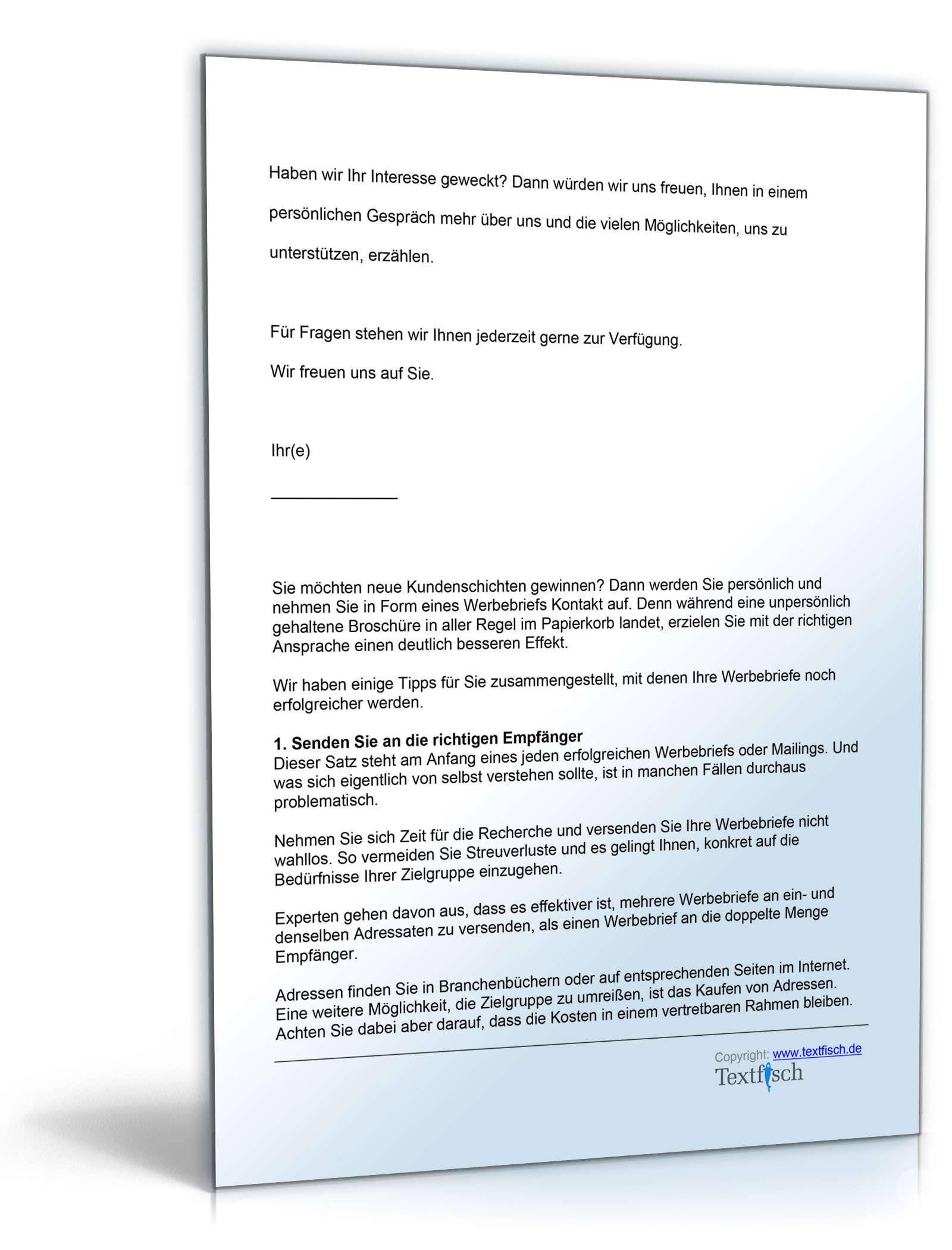 Sponsoringschreiben Sportverein | Muster zum Download