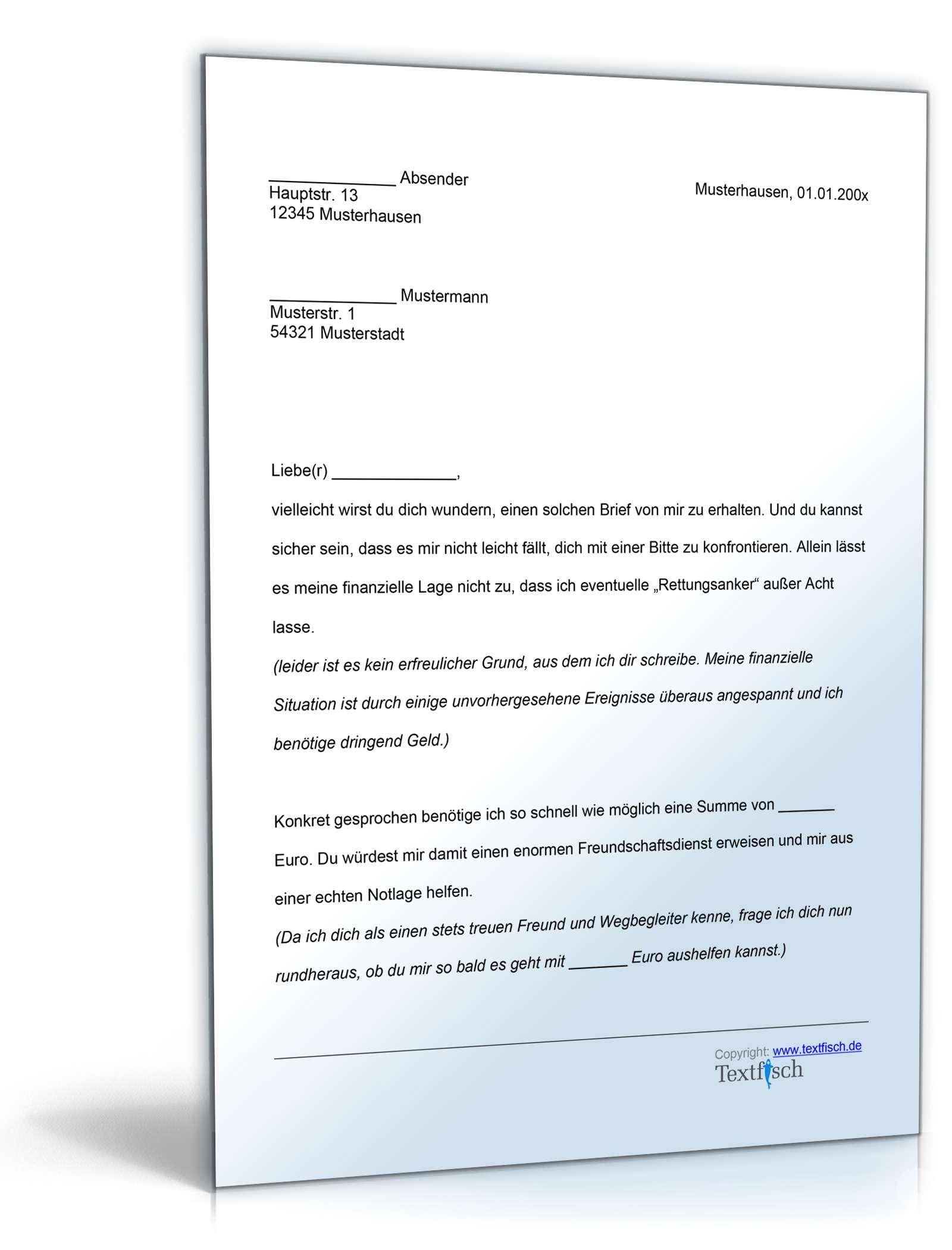 Ausgezeichnet Musterbrief Von Unterstützung Galerie - Bilder für ...