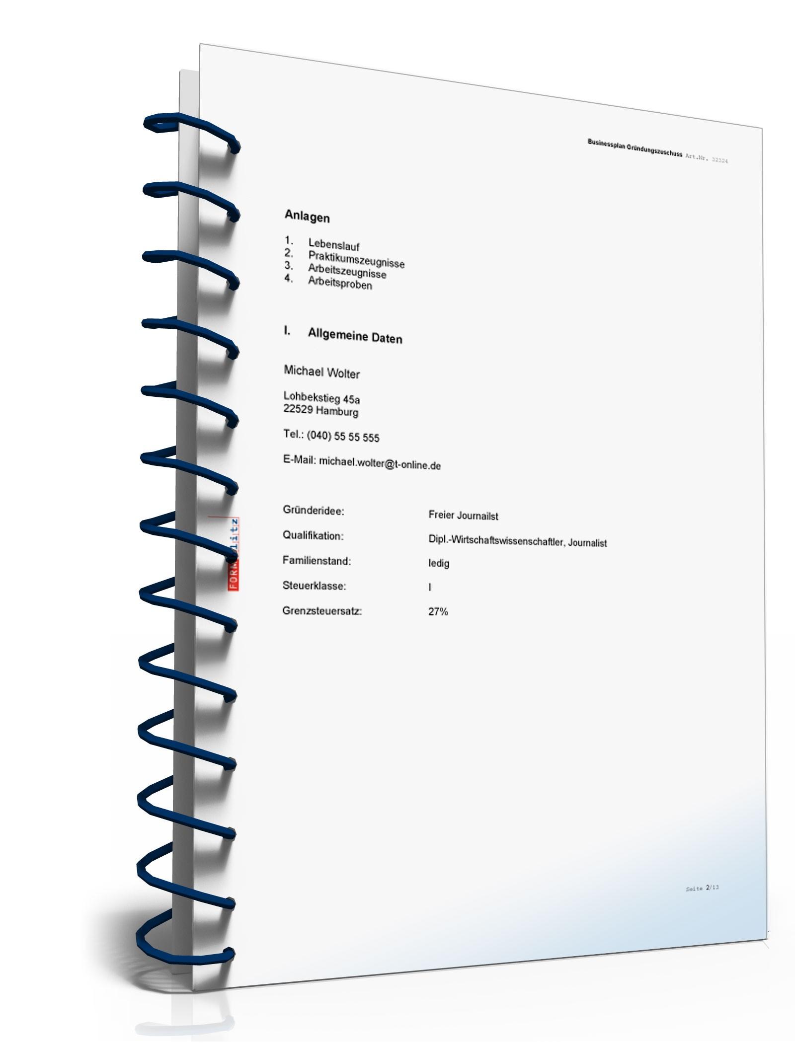 Businessplan erstellen mit dem eigenen Muster