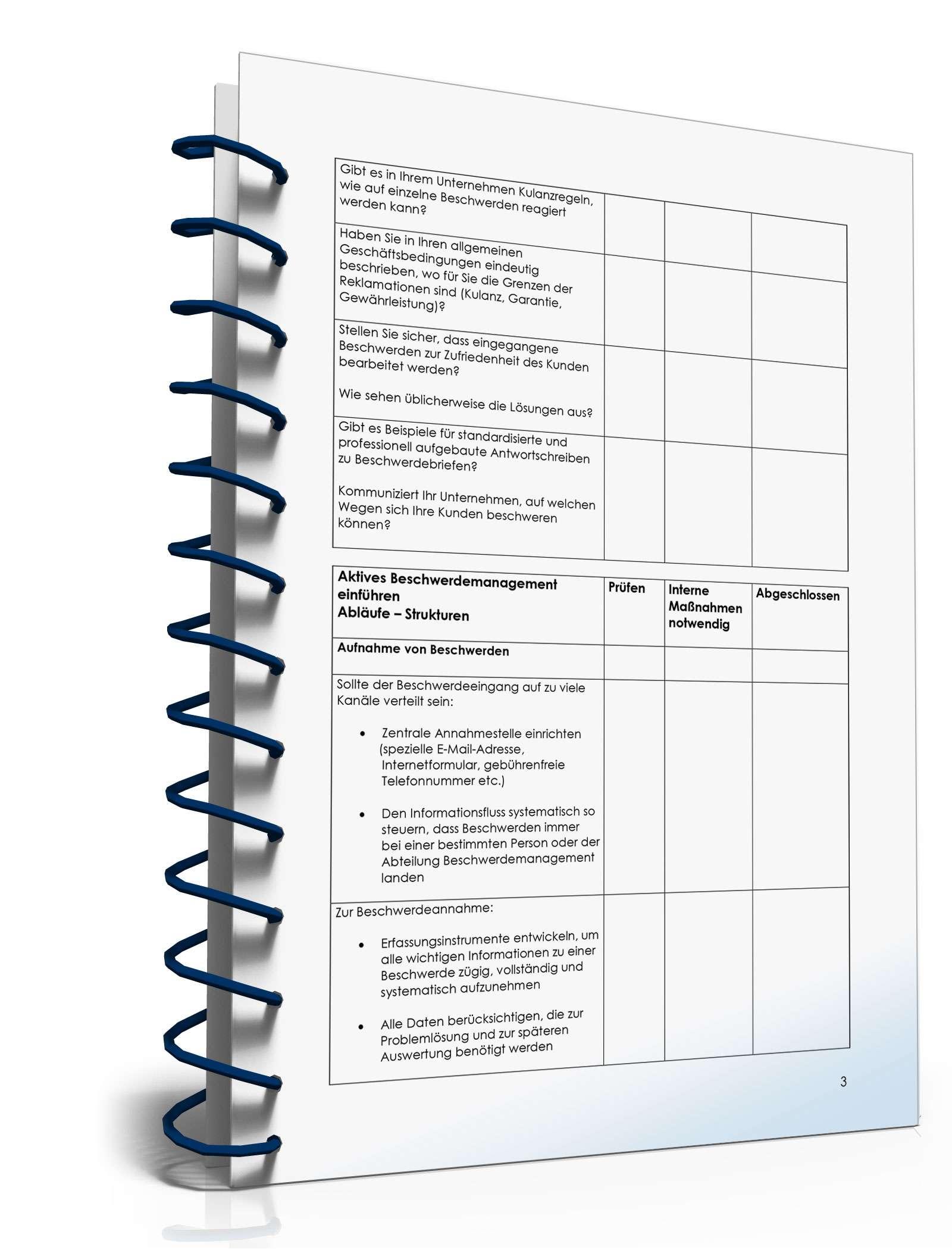 Checkliste - Beschwerdemanagement - Muster-Vorlage zum Download
