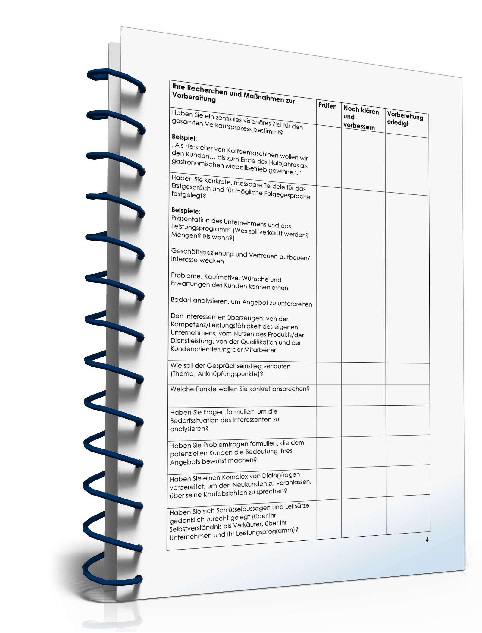 Checkliste Erstgespräch Mit Geschäftskunden Kurzratgeber Zum Download