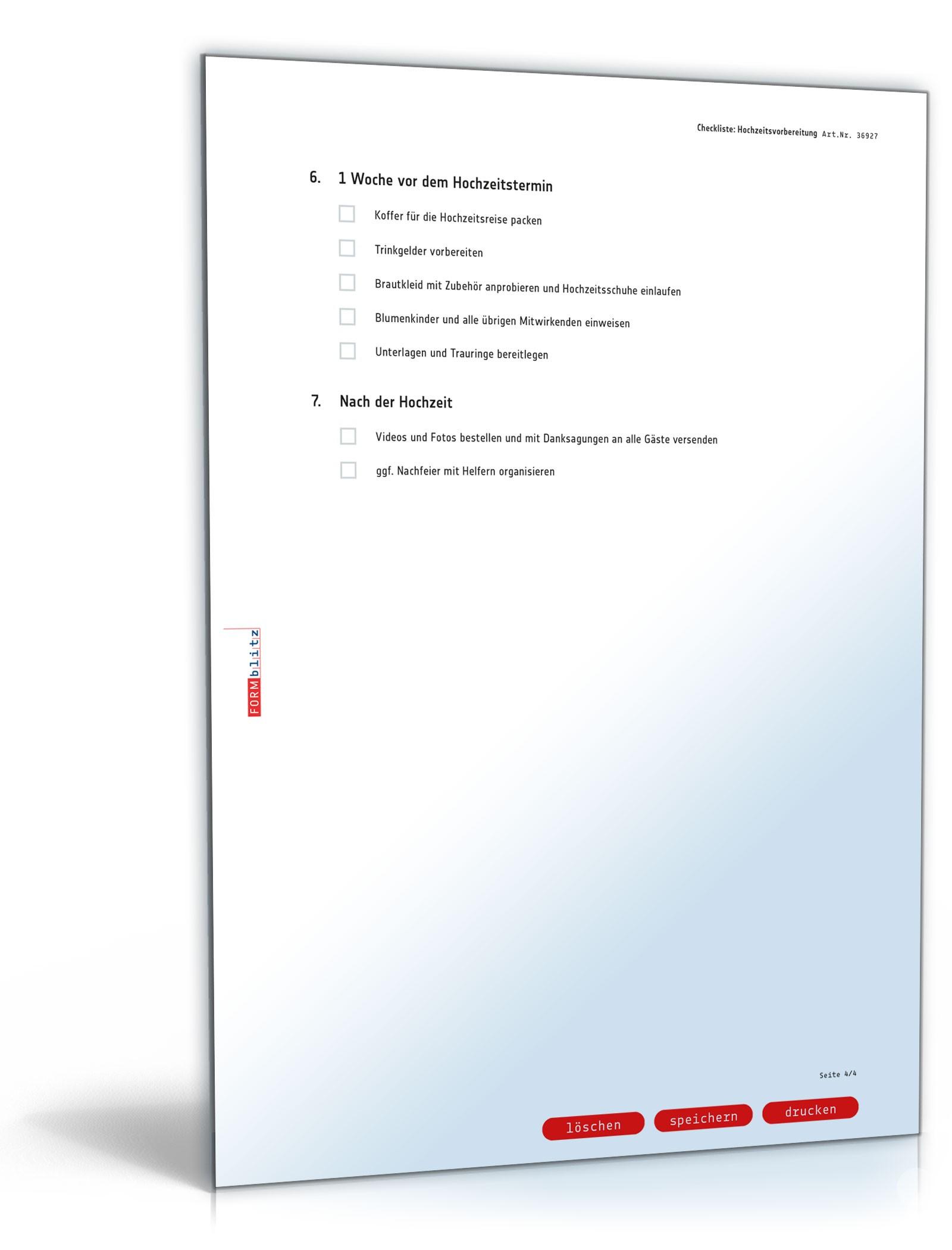 Checkliste Hochzeitsvorbereitung Zum Download