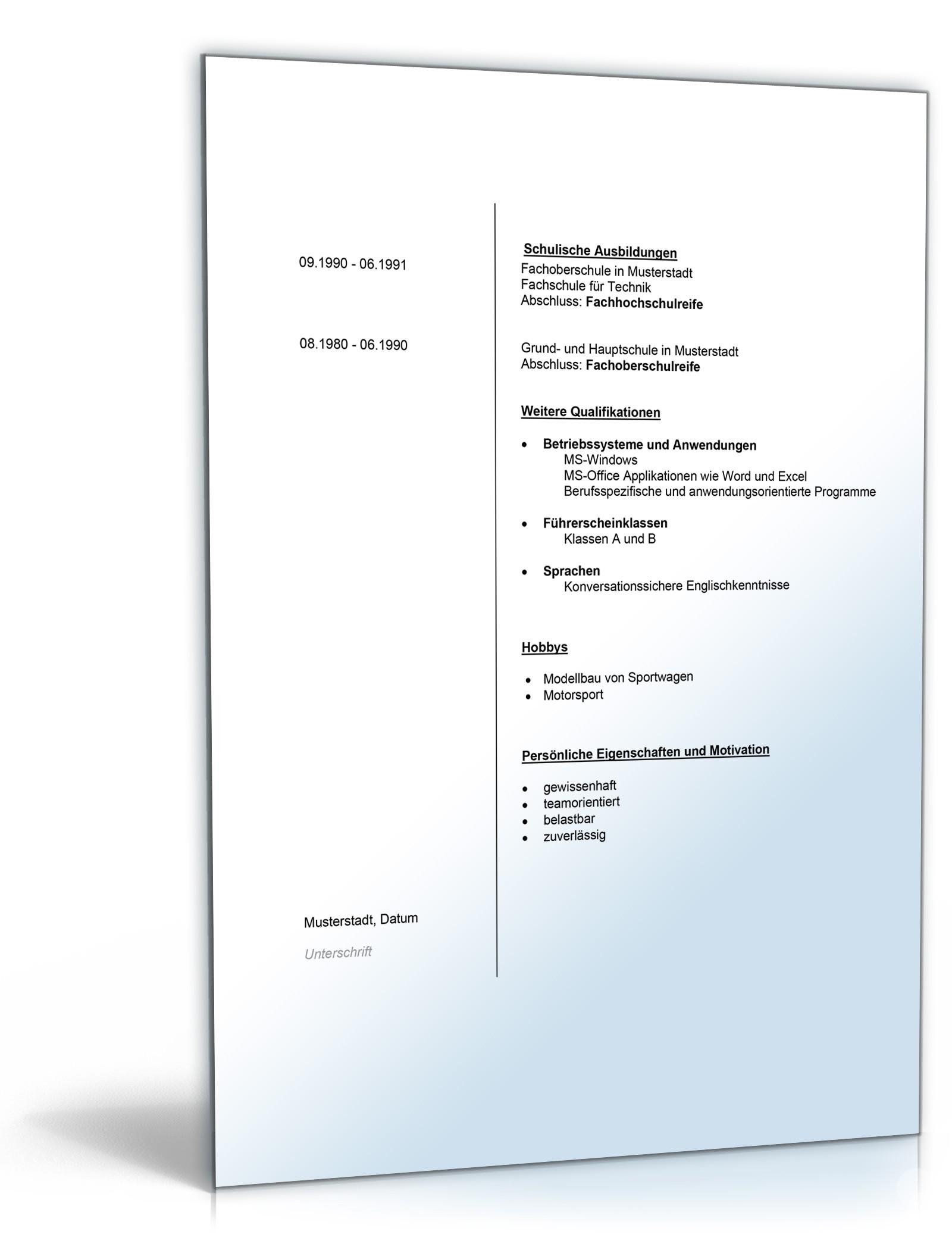 Großzügig Chemie Lebenslauf Probe Galerie - Beispiel Business ...