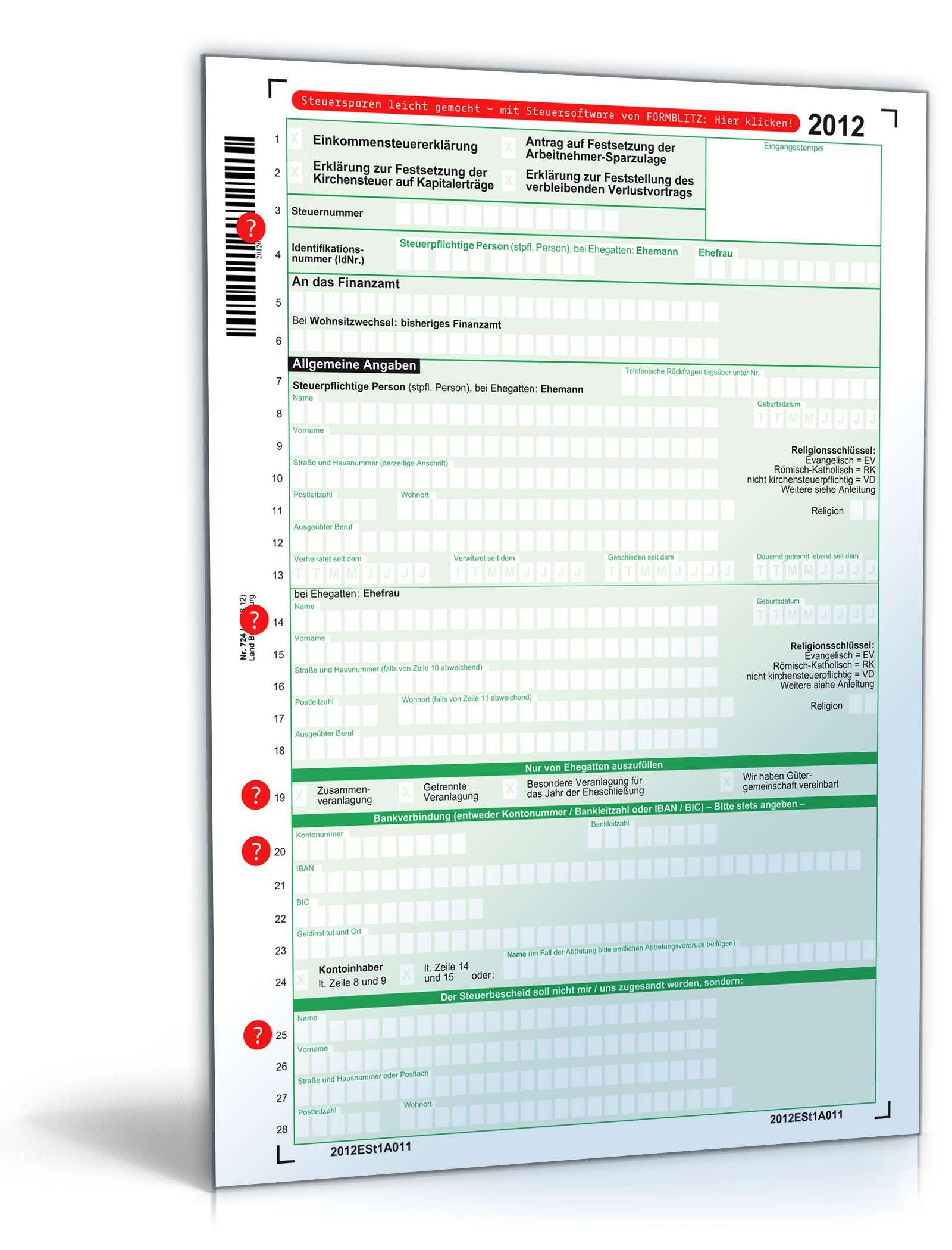steuerformulare 2012