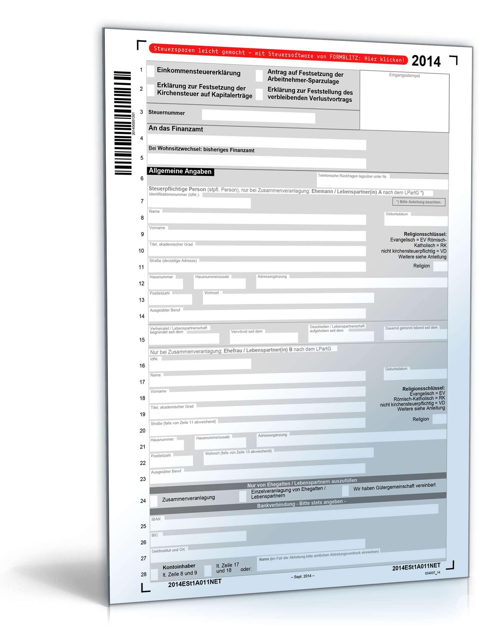 Steuererklarung 2013 Formulare Pdf
