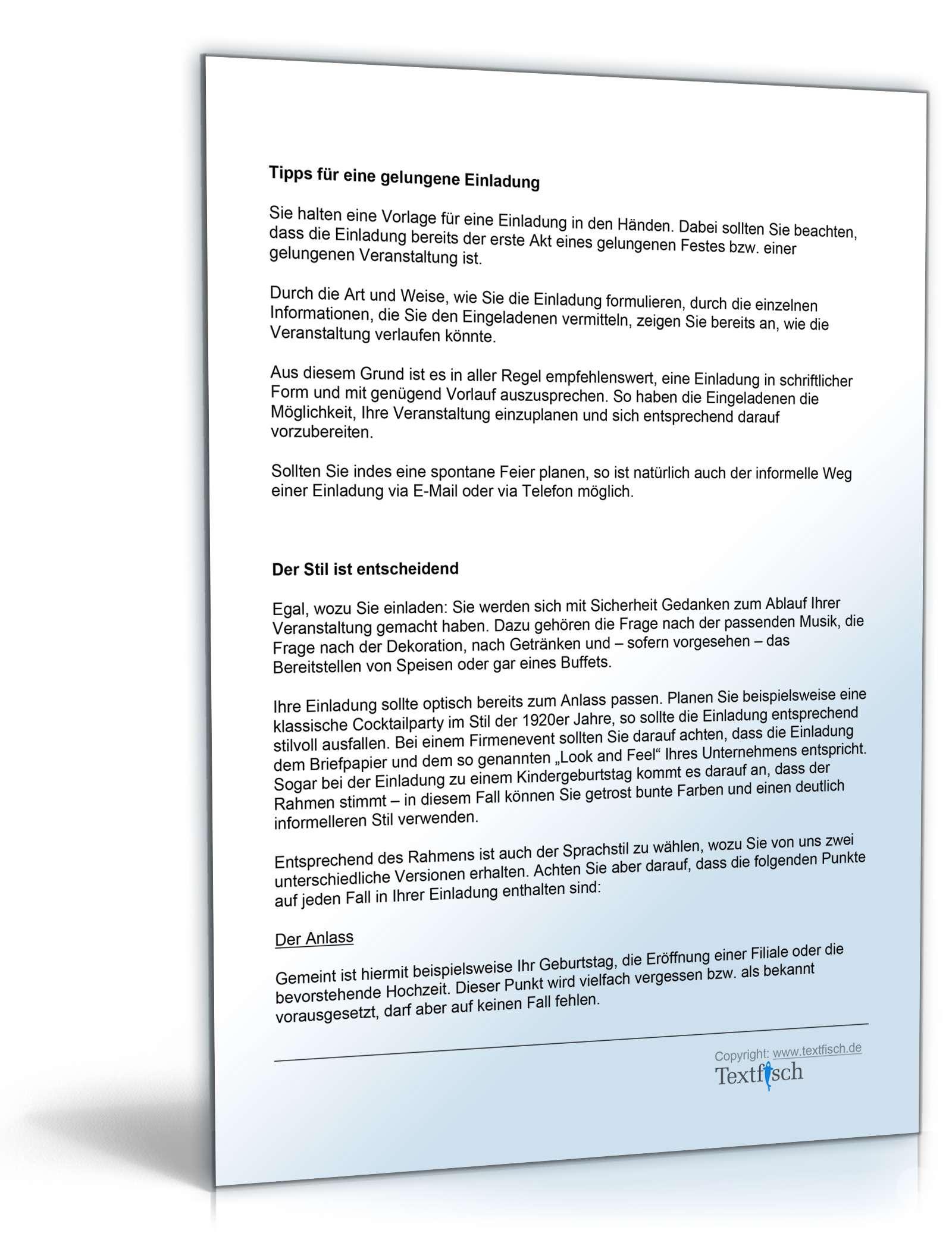 Einladung Geburtstag Geschäftspartner | Vorlage zum Download