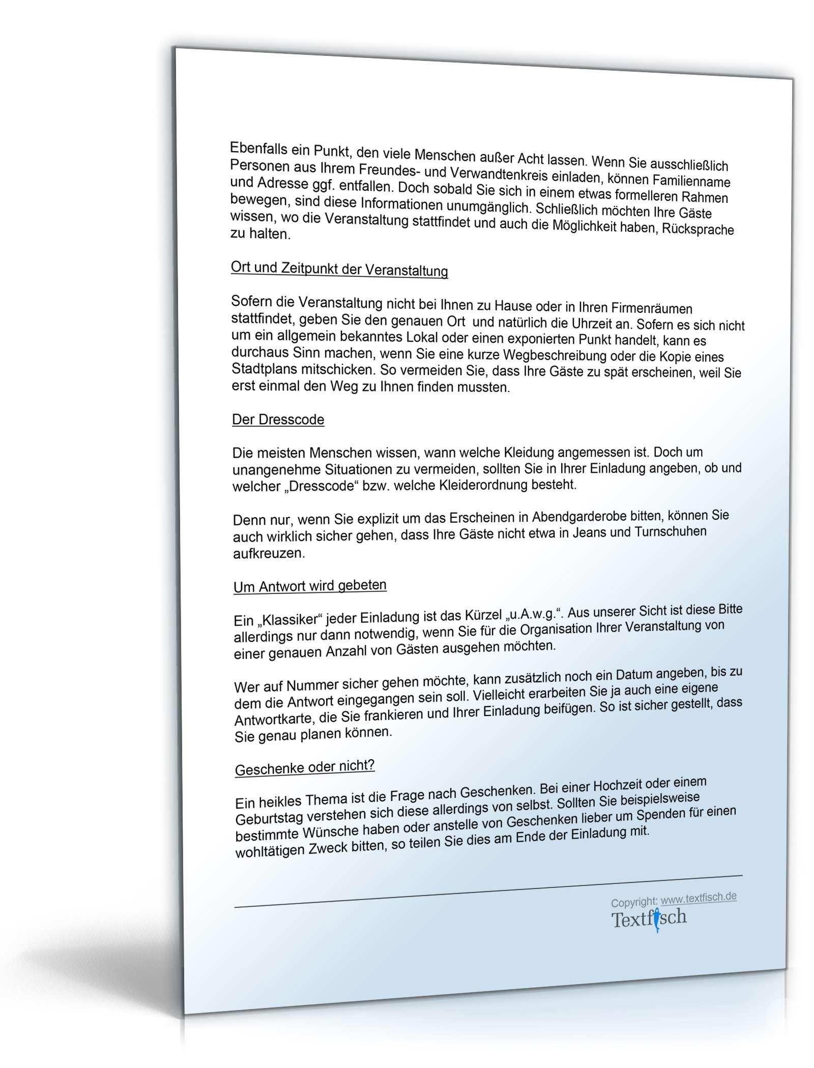 einladung zur konfirmation - muster zum download, Einladung