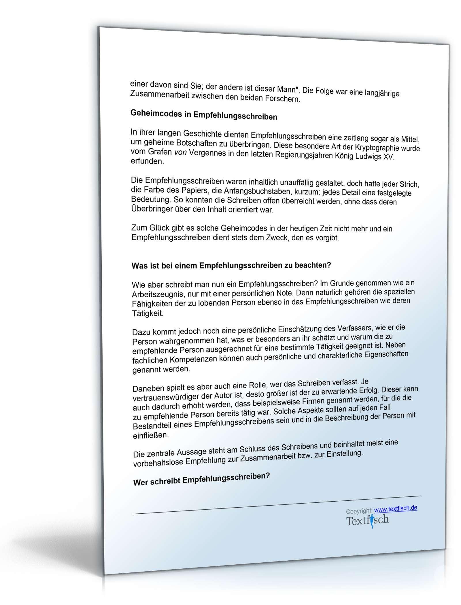 empfehlungsbrief beispiele - Ideal.vistalist.co