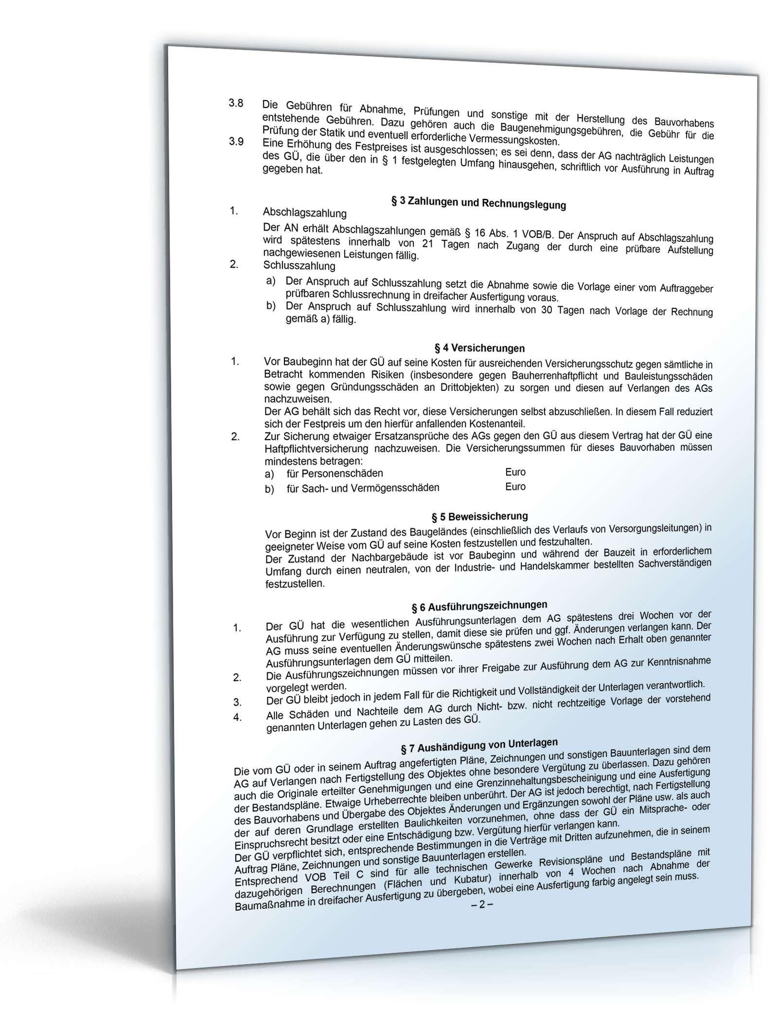 doc seite 1 - Vertragserfullungsburgschaft Muster
