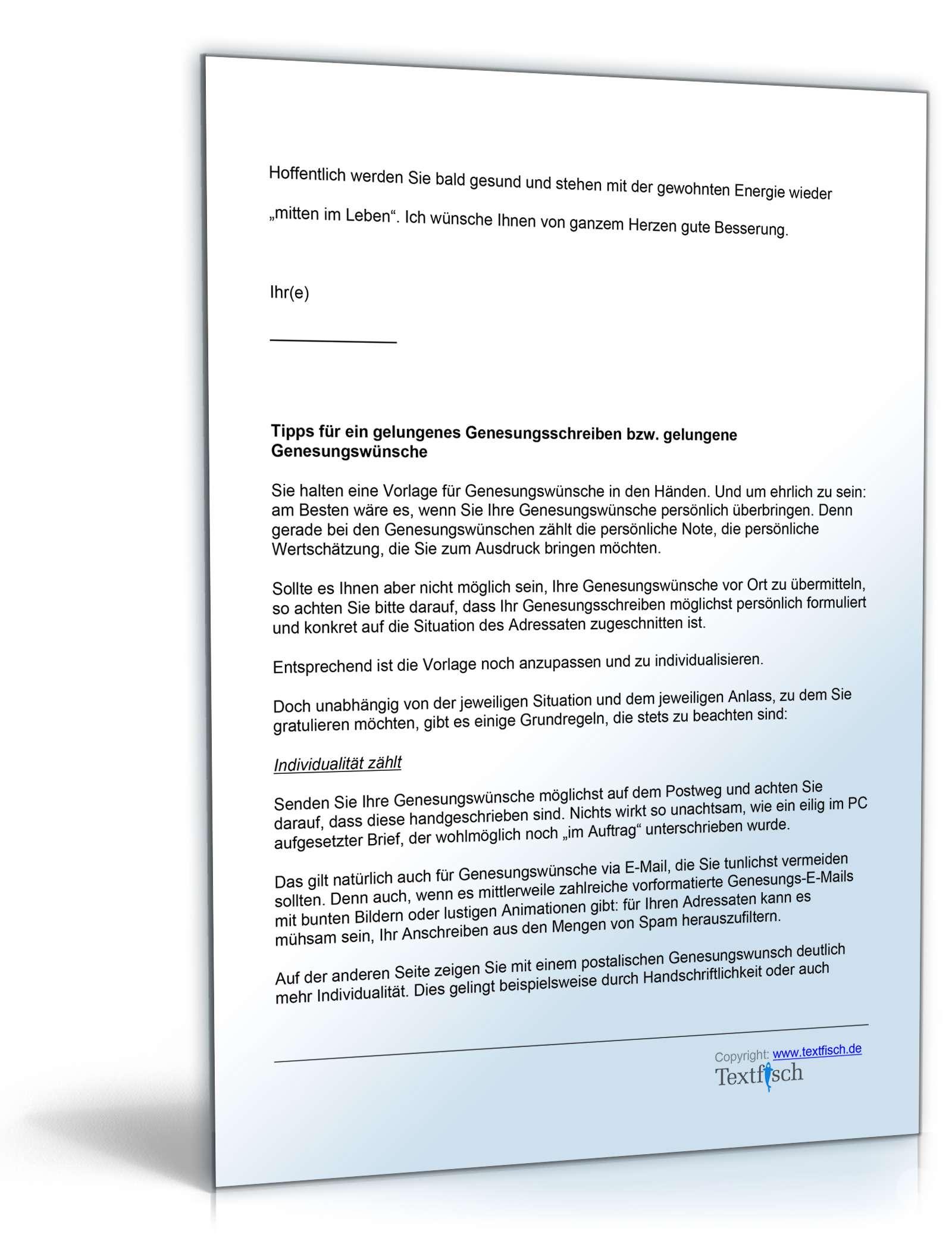 Genesungsbrief Geschäftlich Musterbrief Zum Download