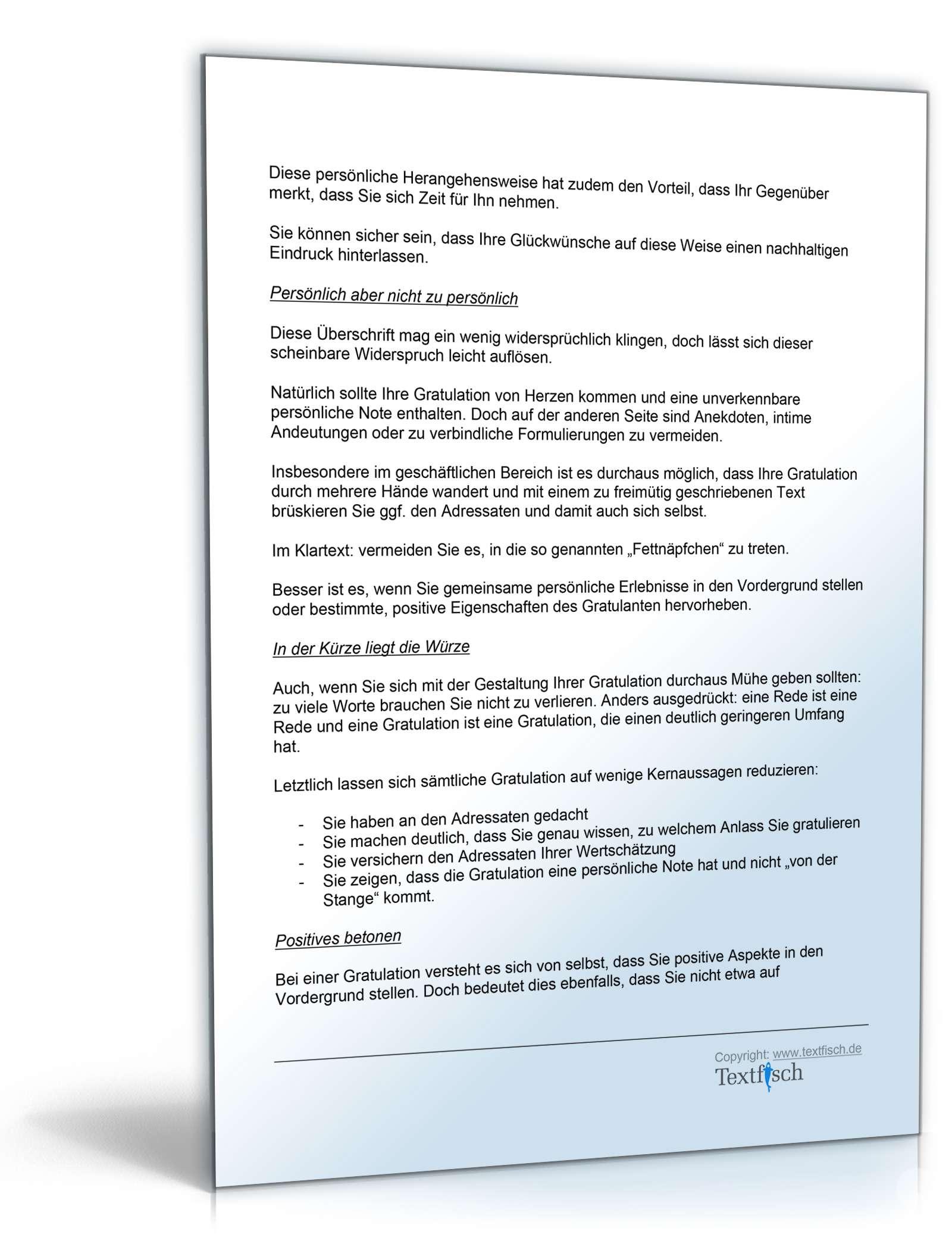 Musterbriefe Geschäftsbriefe : Gratulation firmenjubiläum vorlage zum download