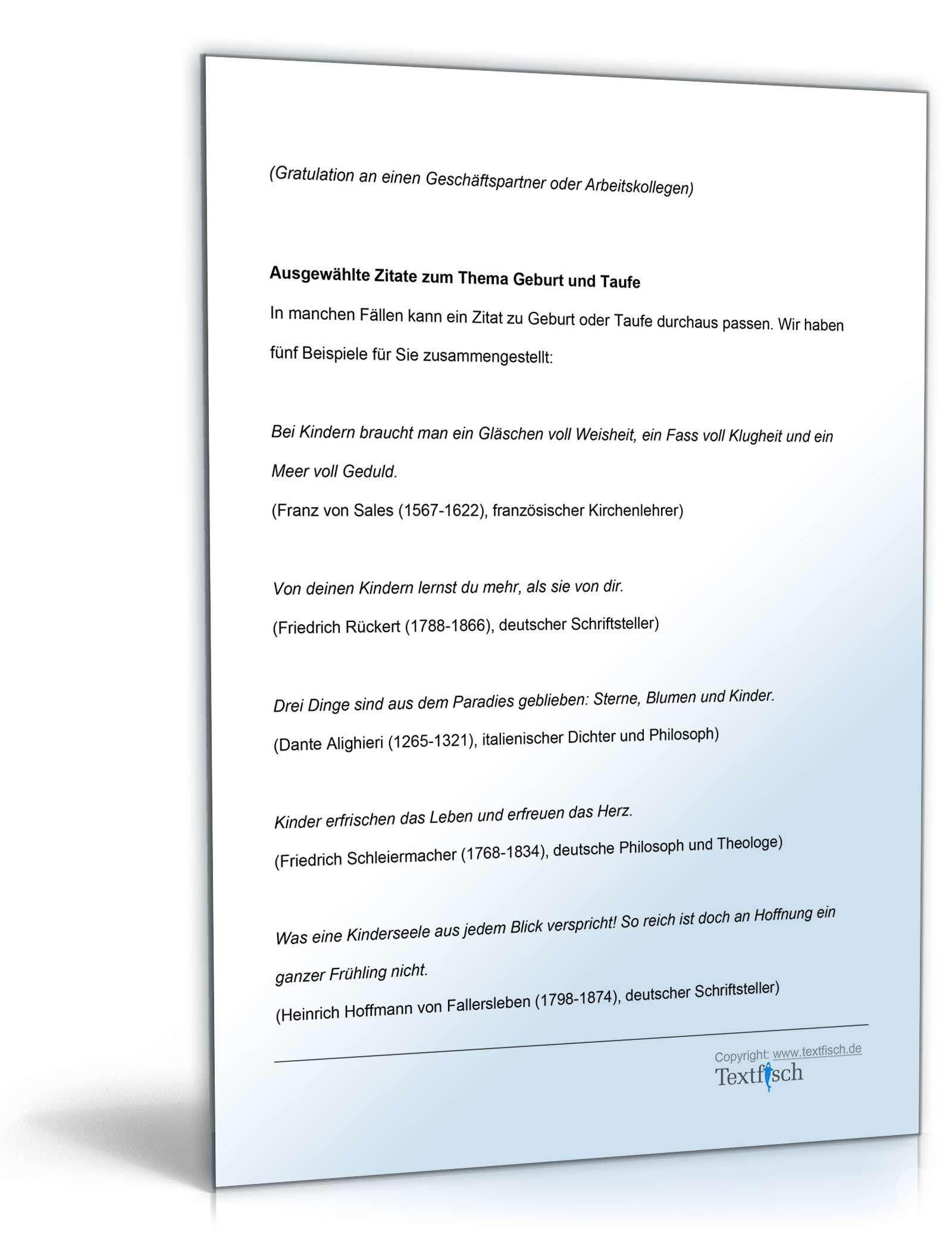 Gratulation Taufe Kind Vorlage Zum Download