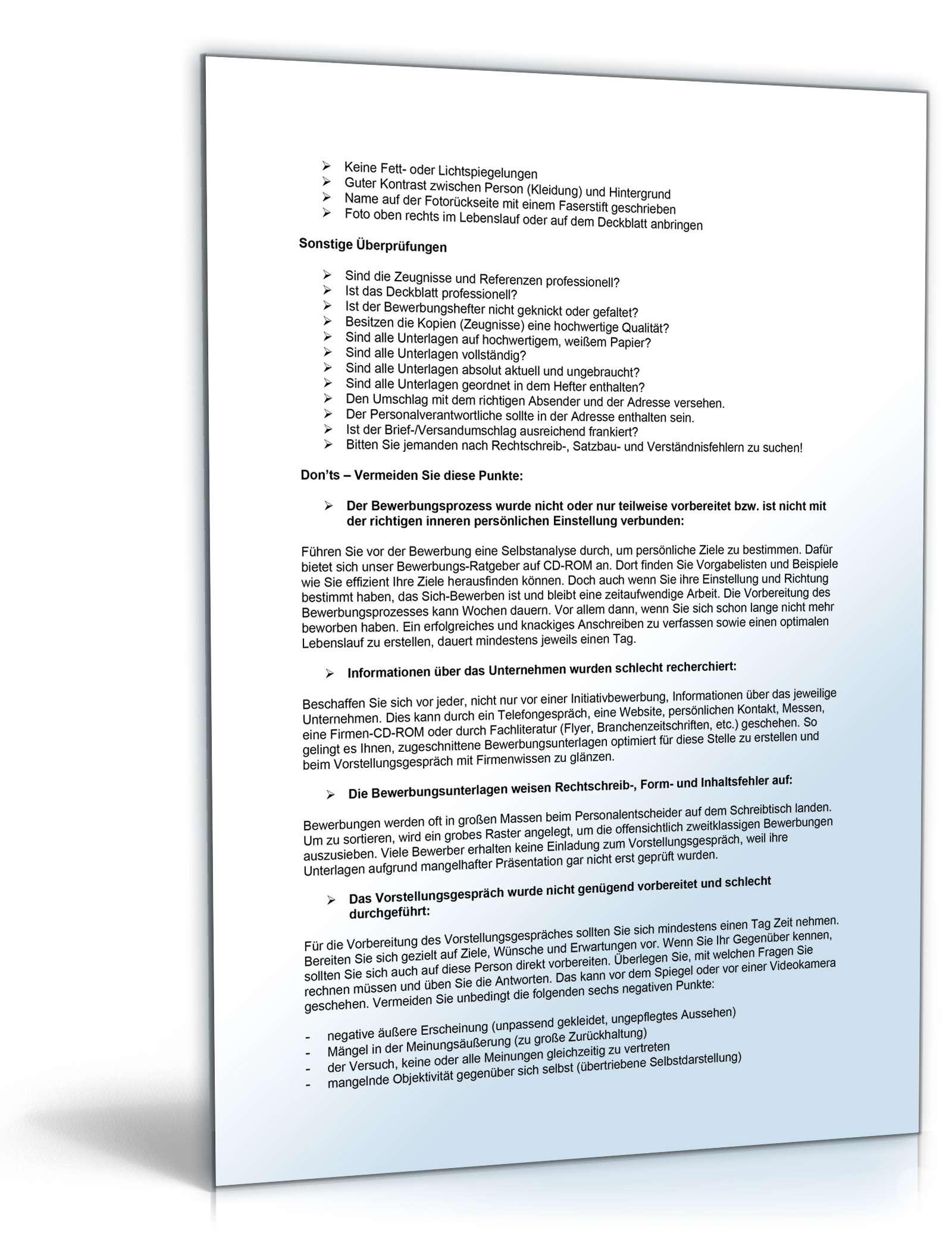 bewerbungs-paket landmaschinenmechaniker | muster zum download, Einladungen