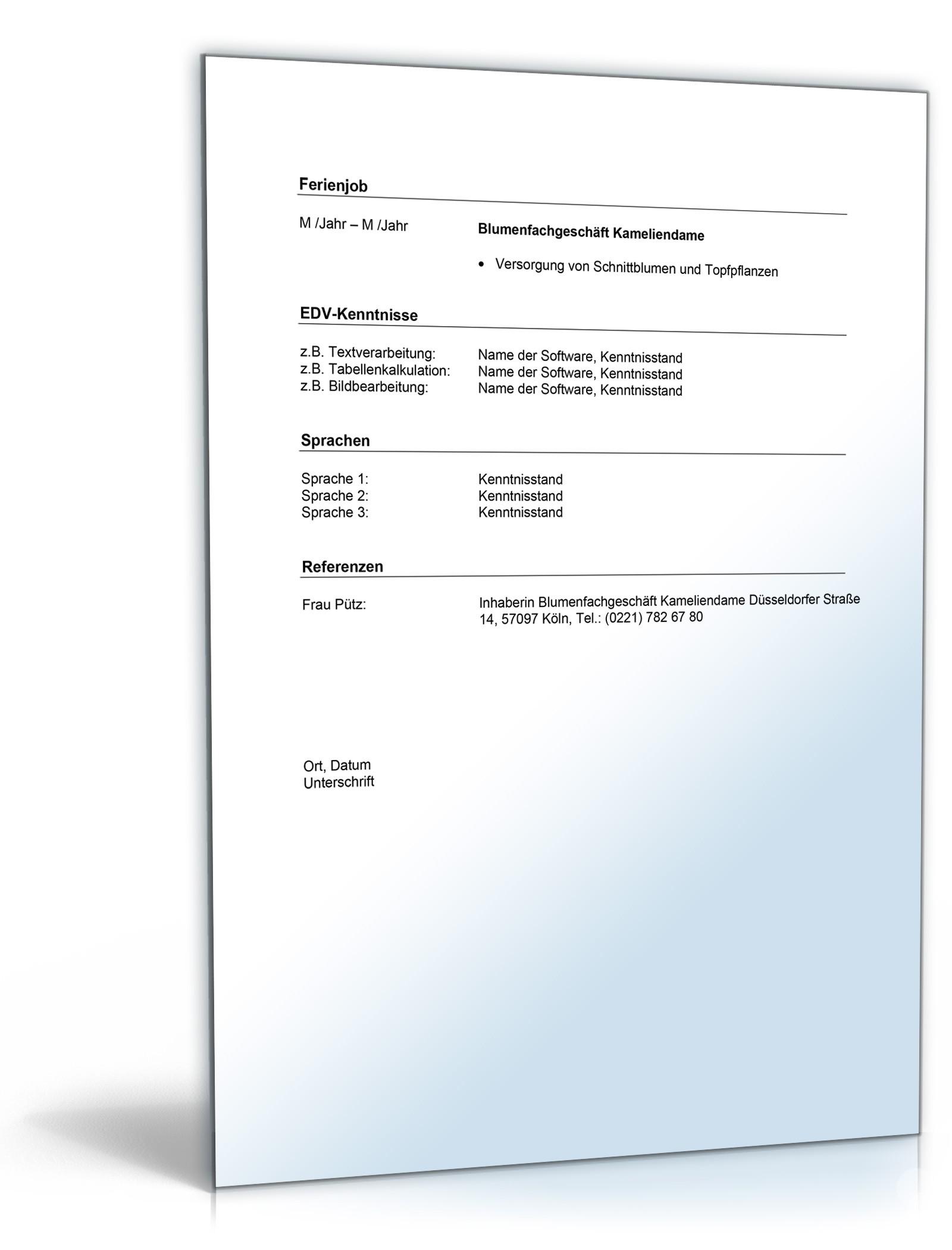 Groß Lebenslauf Referenzen Schreiben Ideen - Entry Level Resume ...