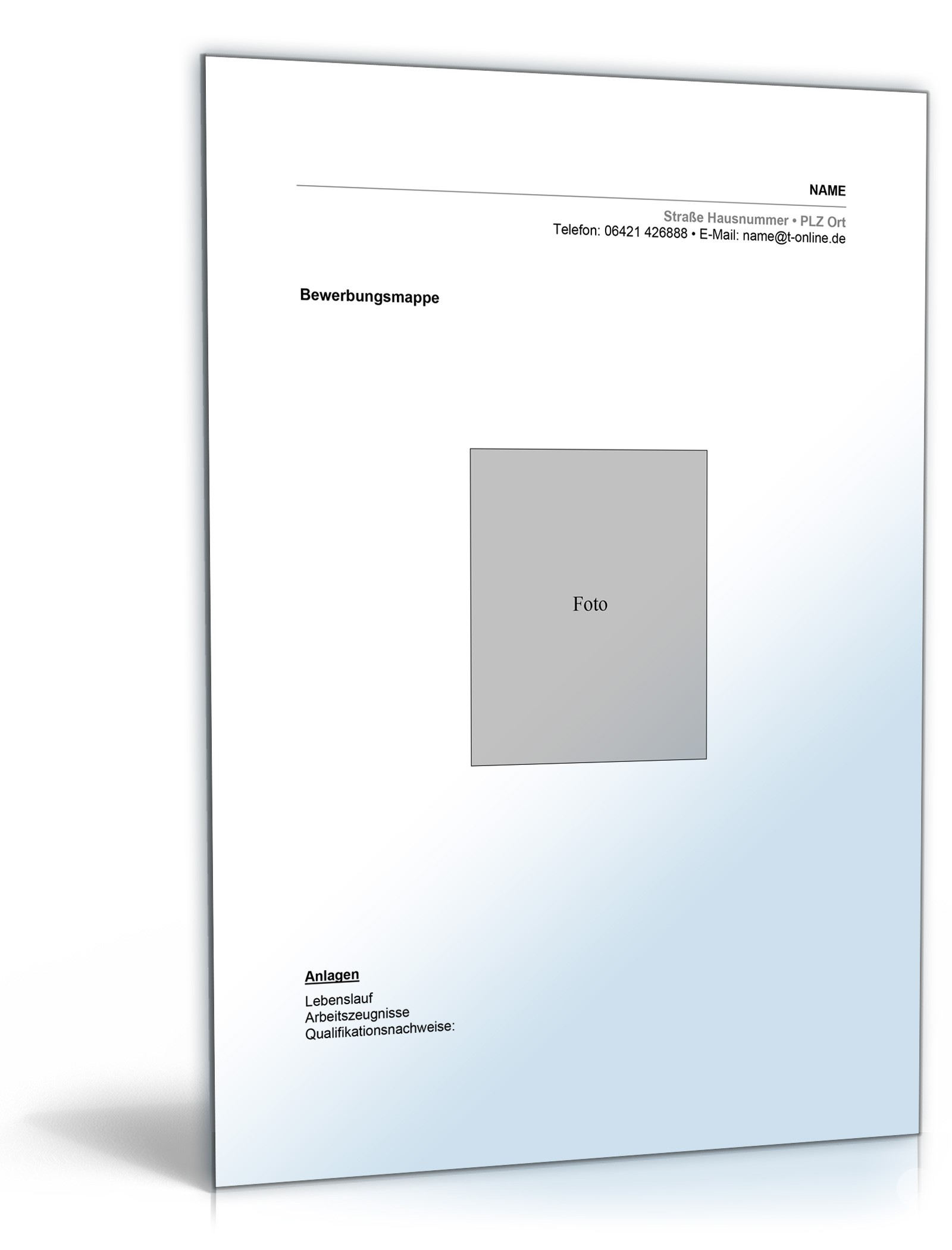 Lebenslauf Maler   Muster zum Download