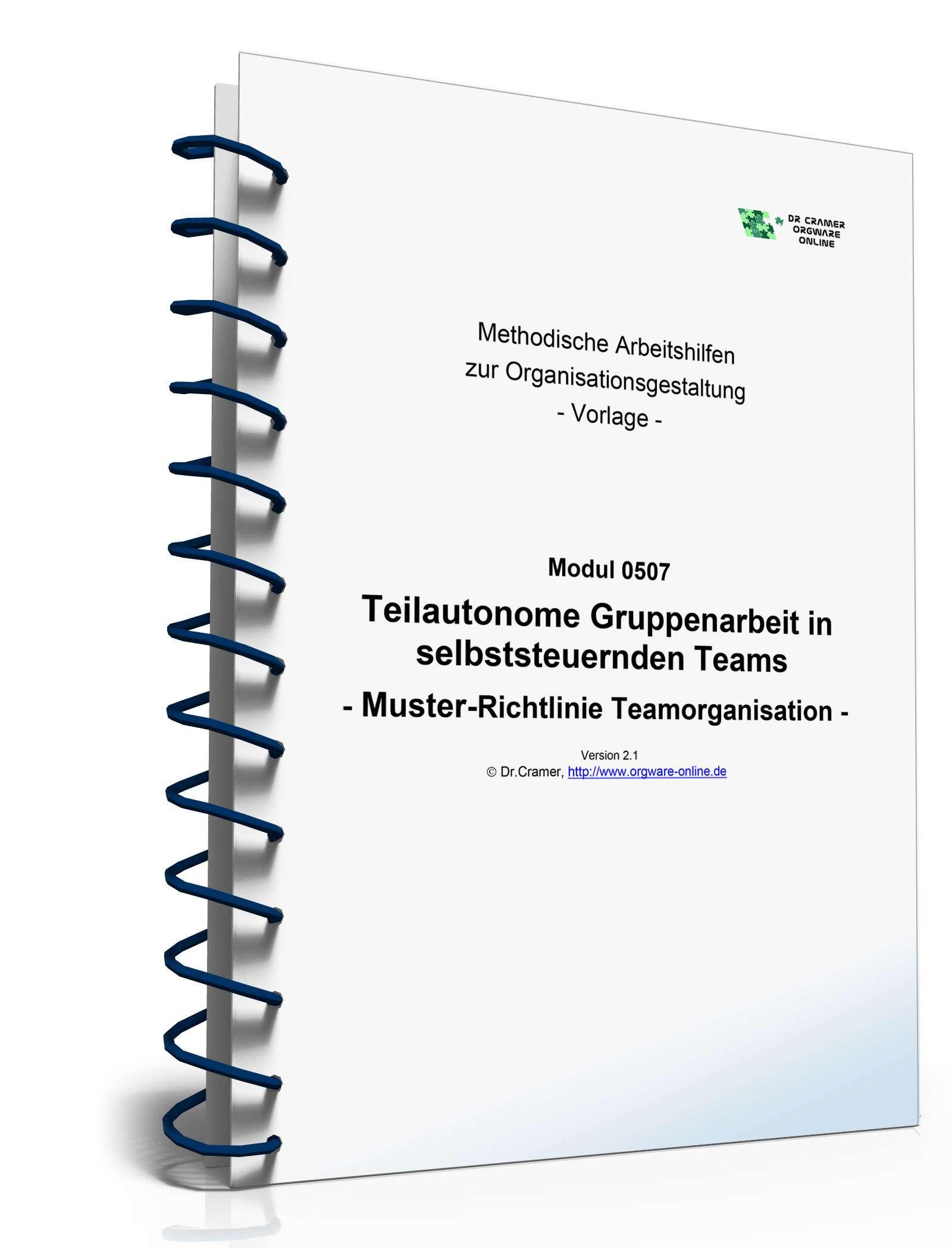 Teilautonome Gruppenarbeit in selbststeuernden Teams - Vorlage zum ...