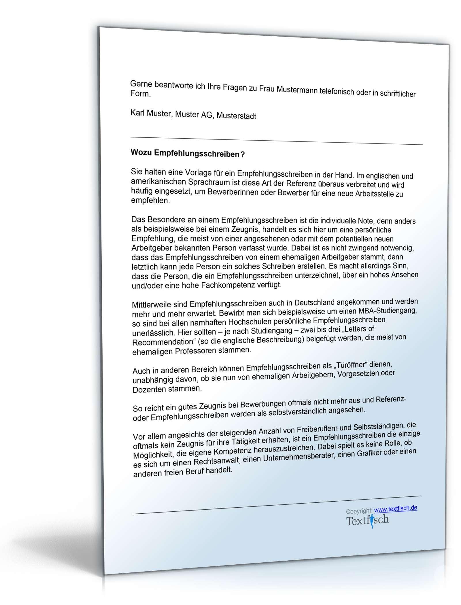 Referenzschreiben Grafikerin Muster Zum Download