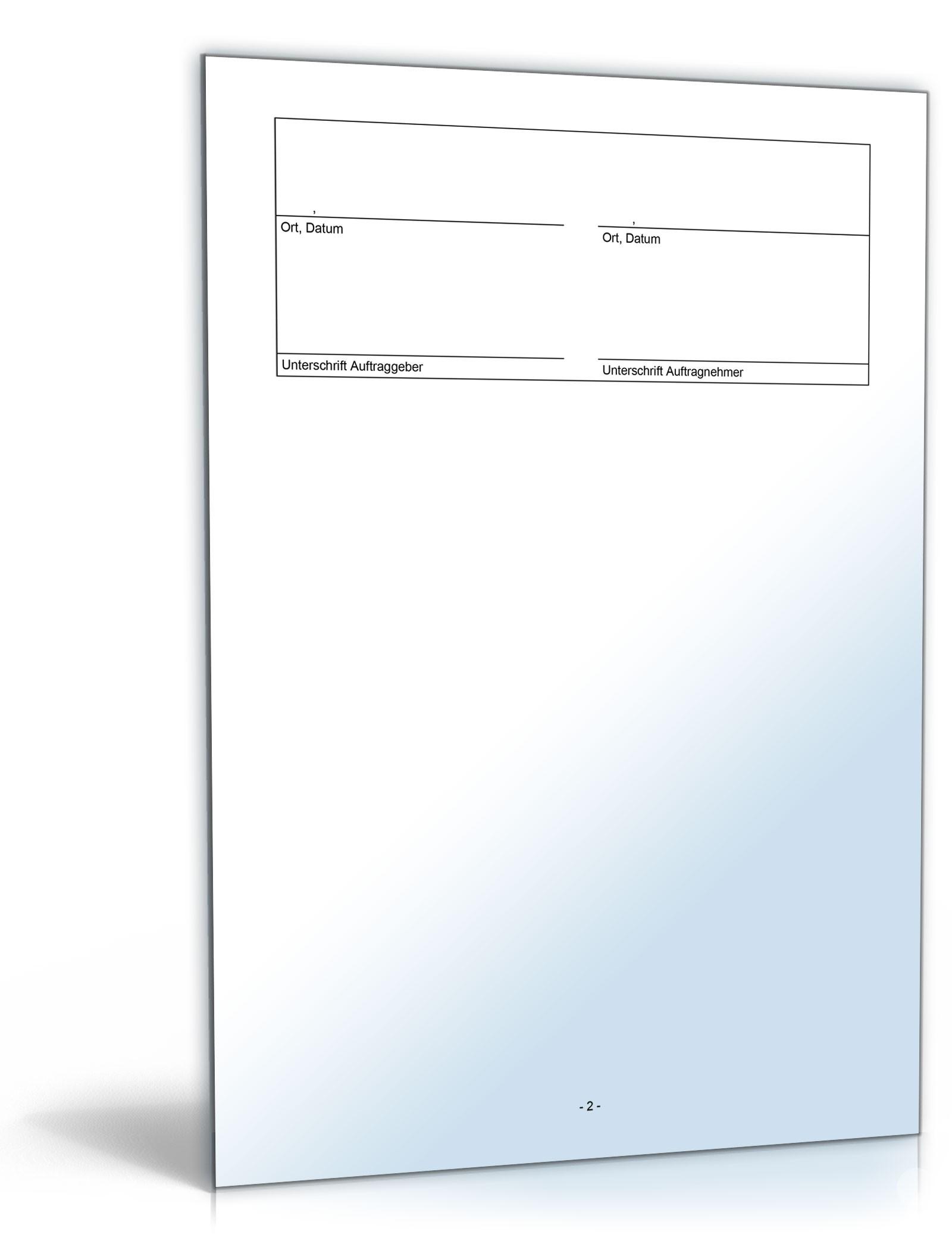 Vobb Bauvertrag Einheitspreisvertrag Muster Zum Download
