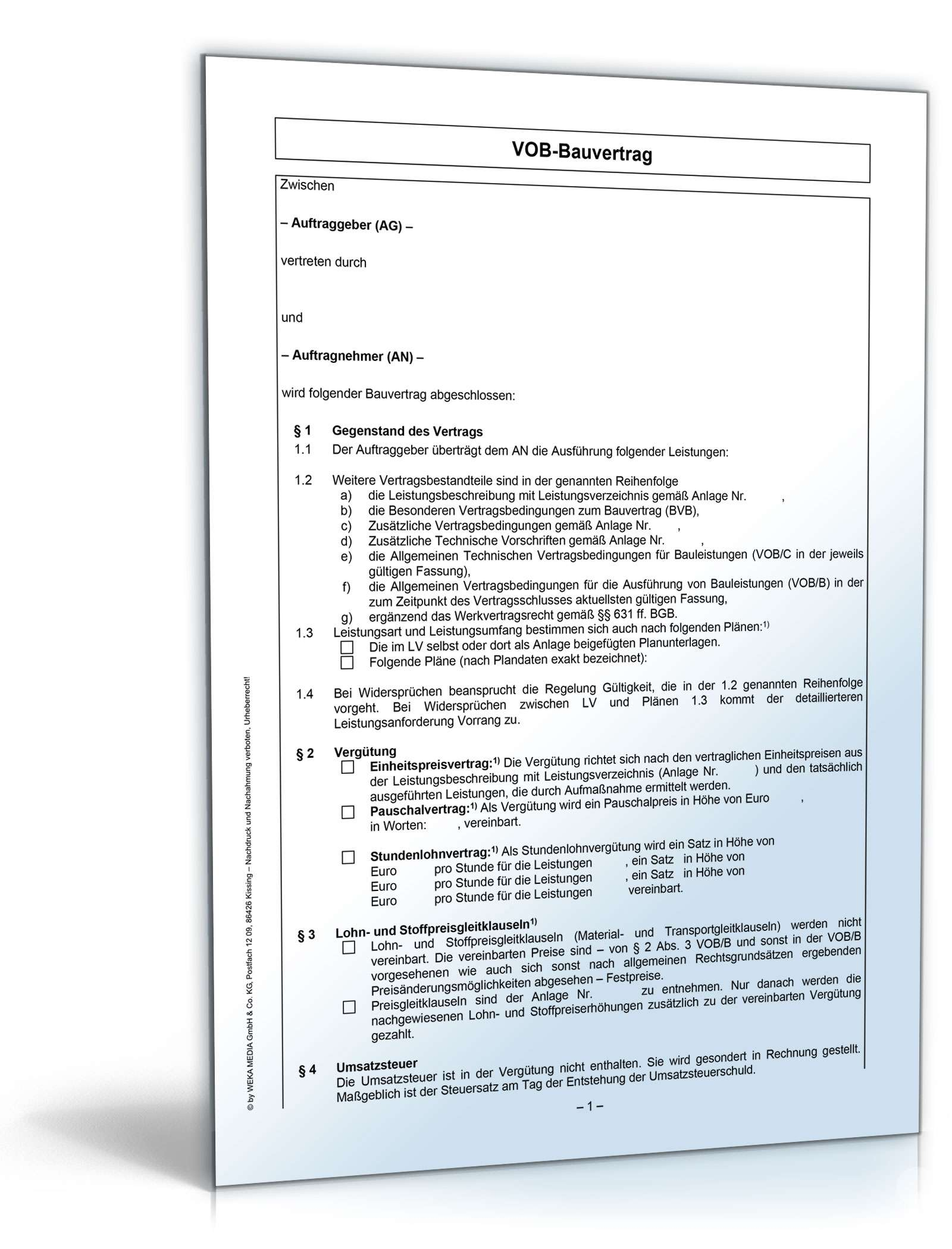 Enchanting Bauvertrag Proben Illustration - FORTSETZUNG ARBEITSBLATT ...