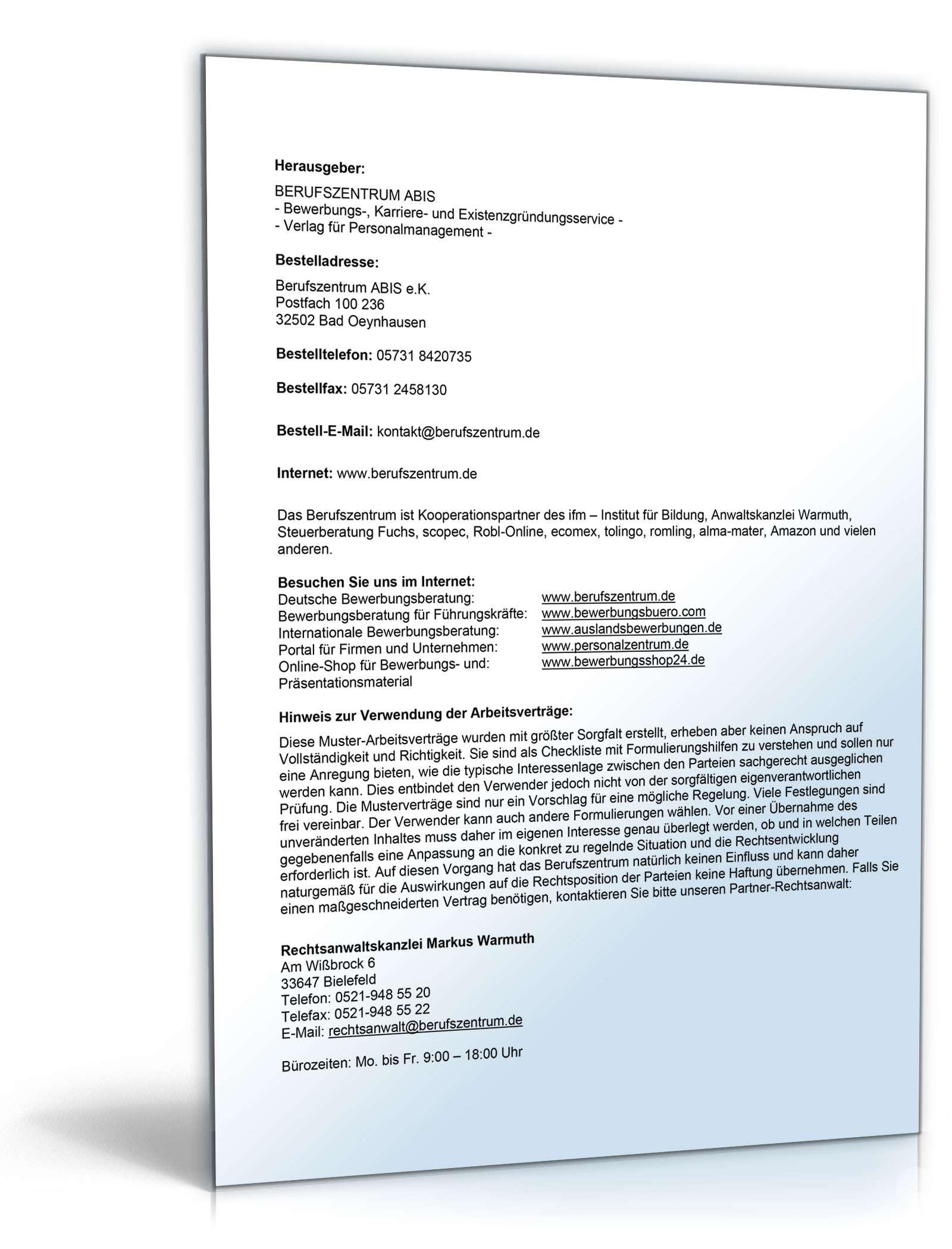 pdf seite 2 - Arbeitsvertrag Muster Minijob