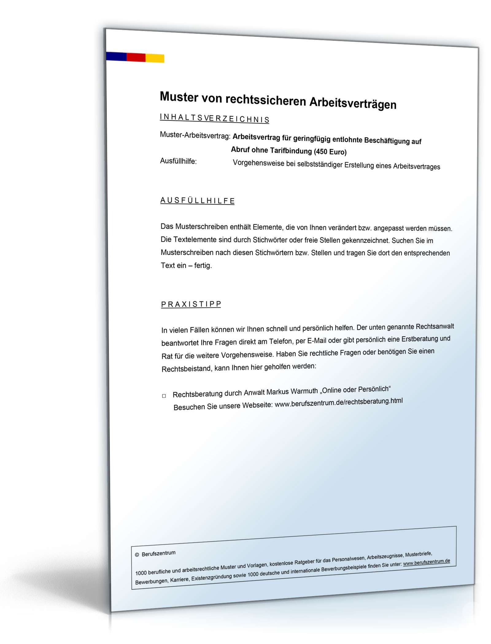 pdf seite 2 - Arbeitsvertrag Minijob Muster